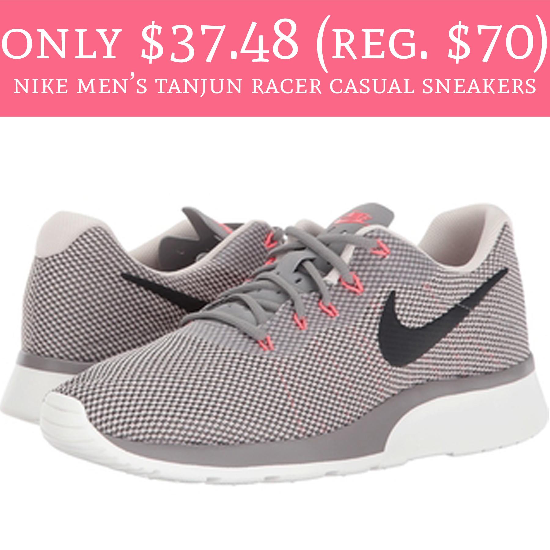 84b2efca2dc Only  37.48 (Regular  70) Nike Men s Tanjun Racer Casual Sneakers ...