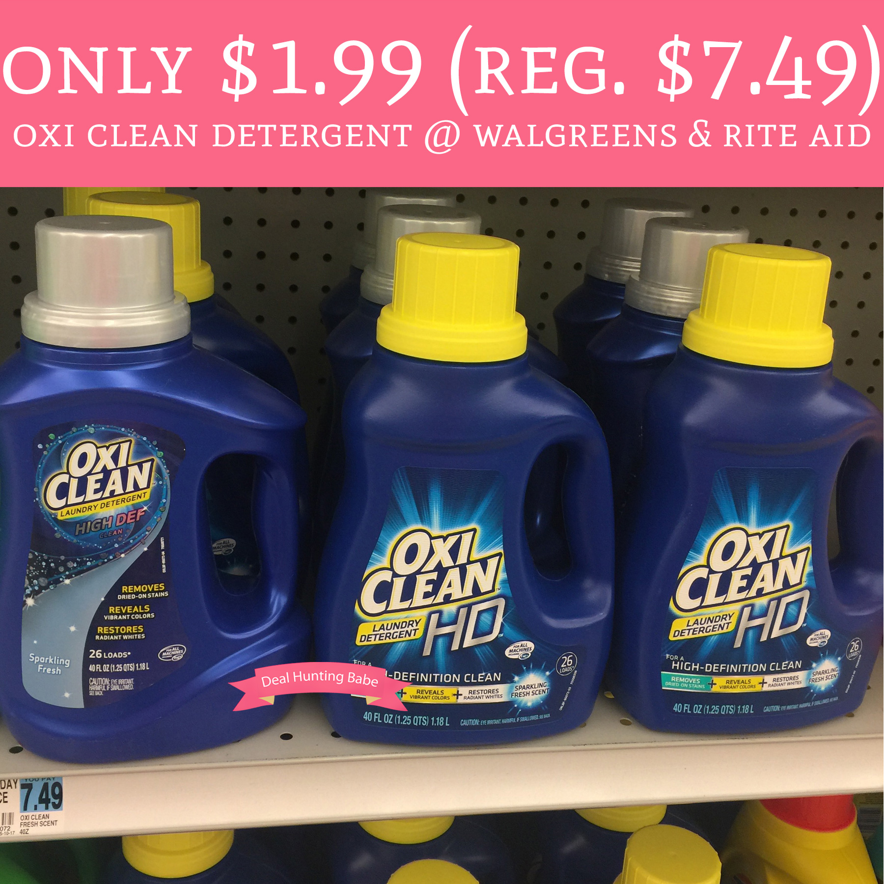 Rite Aid Stock Quote: Only $1.99 (Regular $7.49) Oxi Clean Detergent @ Walgreens