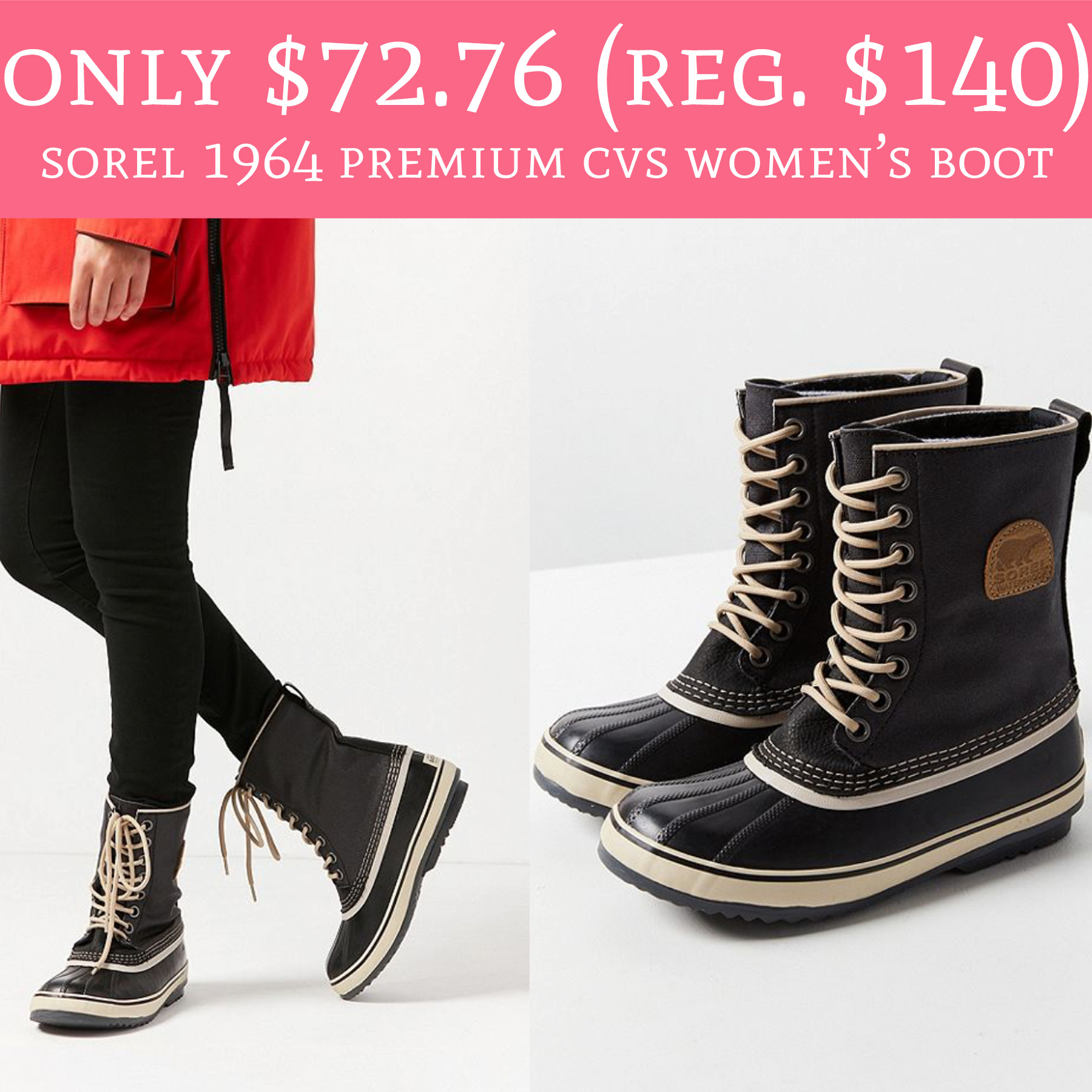 5cc98e1f302 HOT! Only  72.76 (Regular  140) Sorel 1964 Premium CVS Women s Boot ...