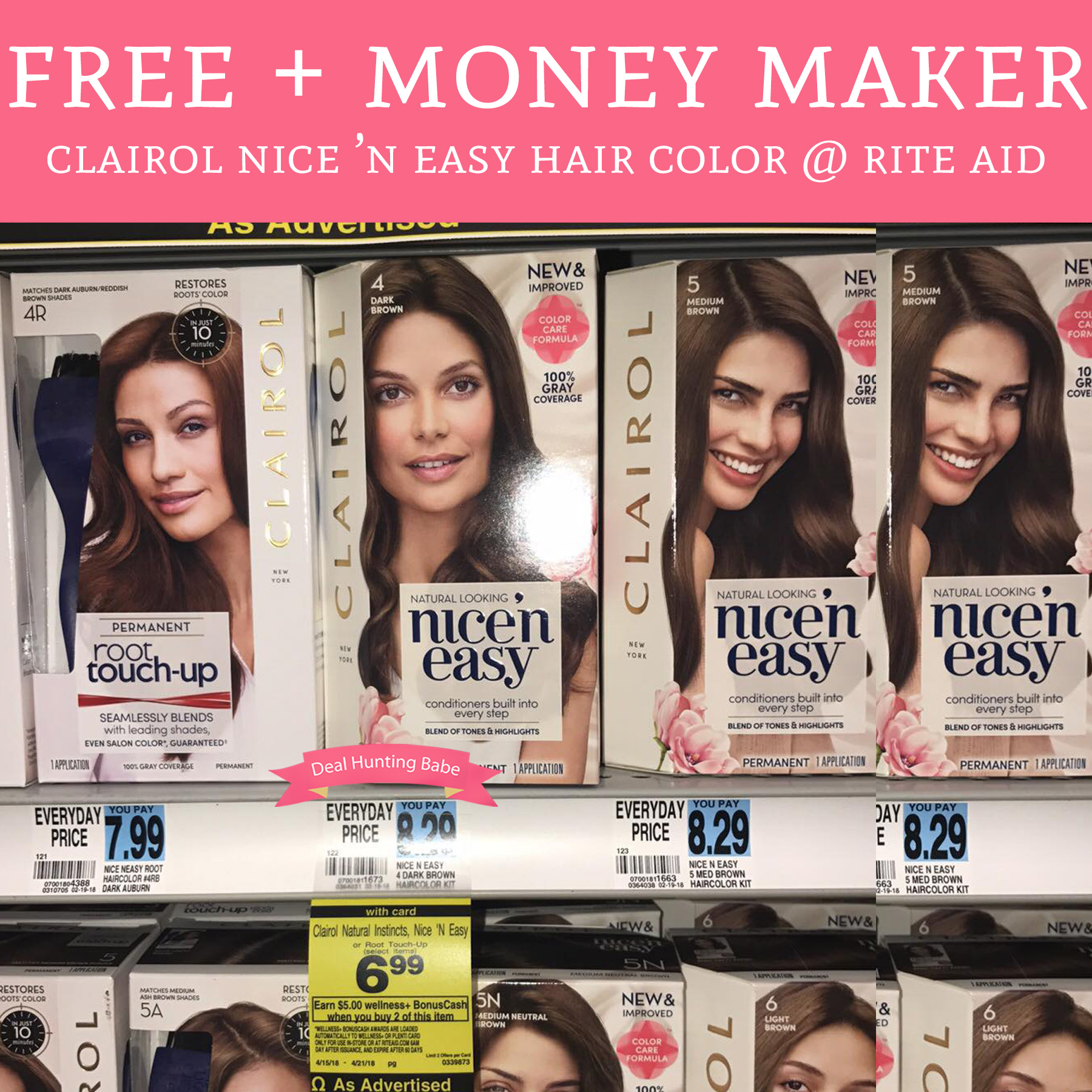 Free Money Maker Clairol Hair Color Rite Aid Deal Hunting Babe