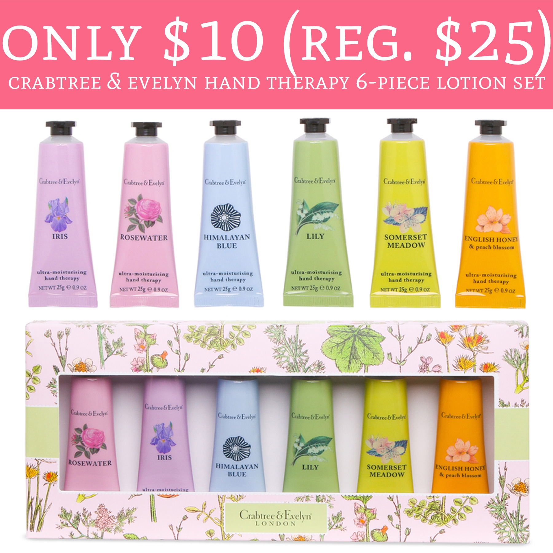 Here you can find the latest Crabtree & Evelyn discount codes