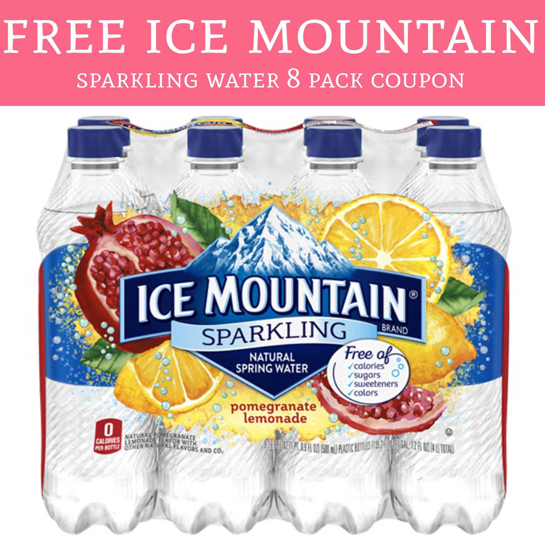 Zephyrhills Sports Bottle: HURRY! FREE Ice Mountain Sparkling Water 8 Pack Coupon
