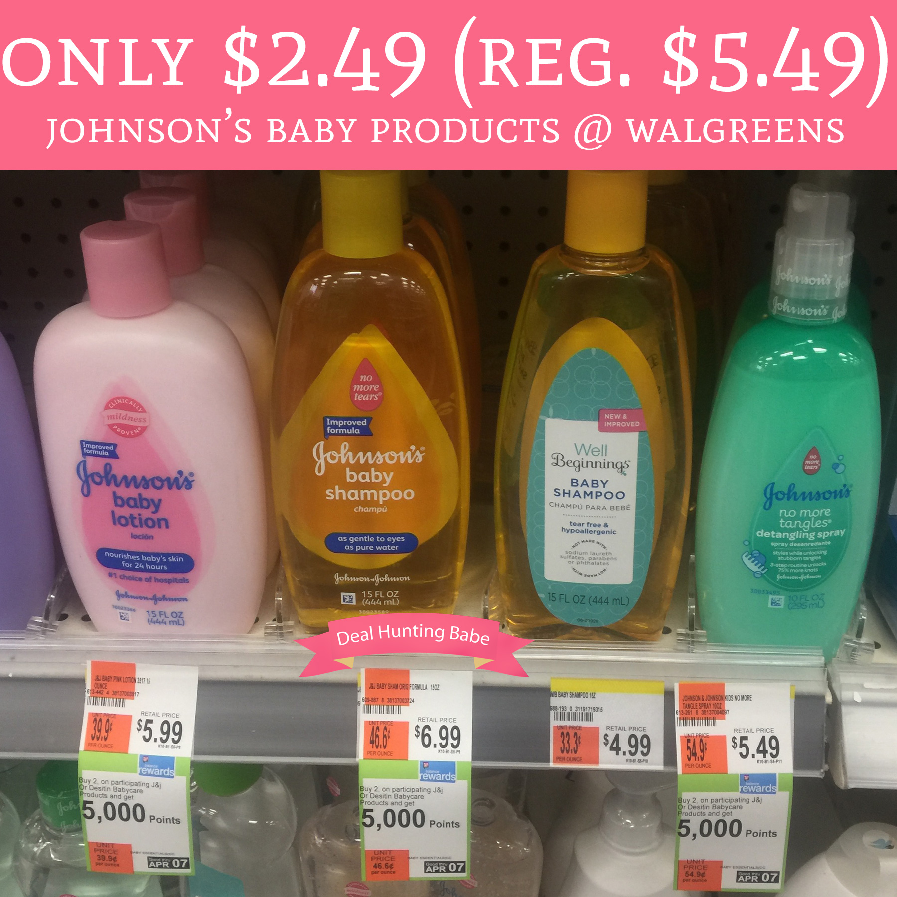Only 2 49 Regular 5 49 Johnson S Baby Products
