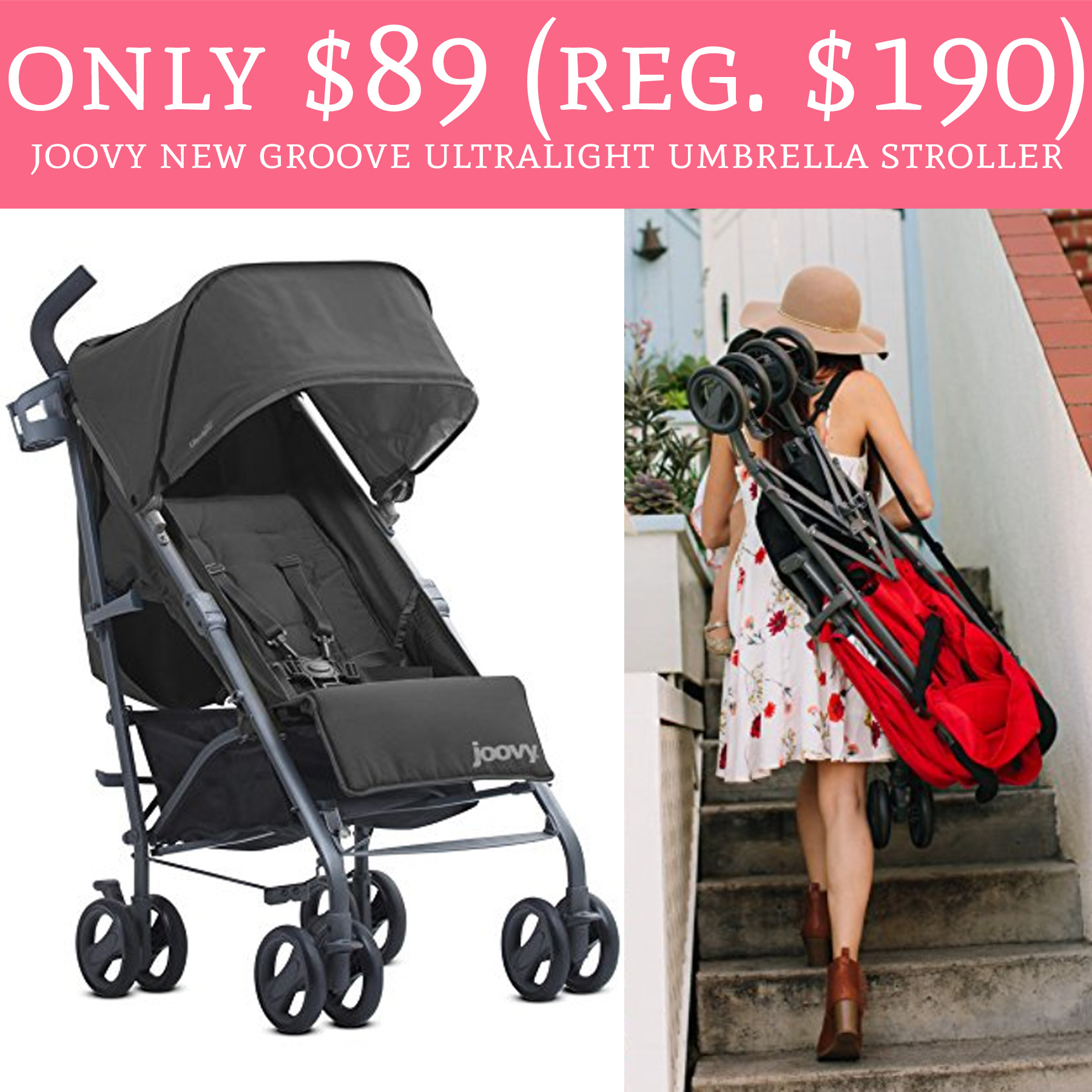 Need a new stroller Hop over to Amazon to score Joovy New Groove Ultralight Umbrella