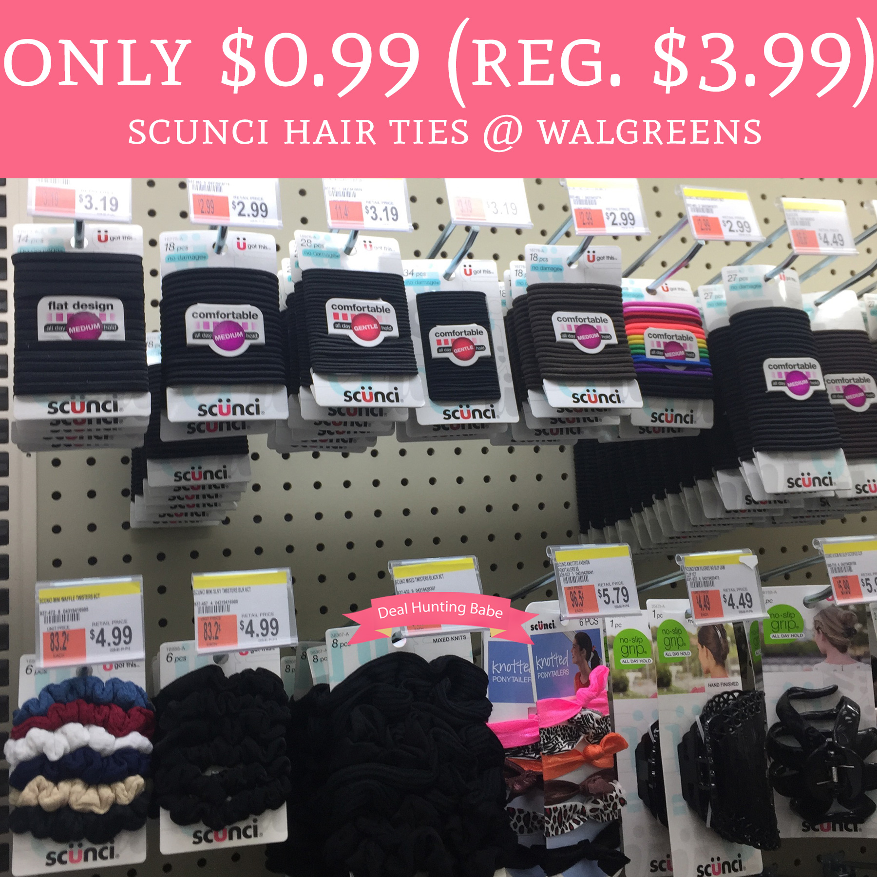 Only 0 99 Regular 3 Scunci Hair Ties Walgreens Deal Hunting