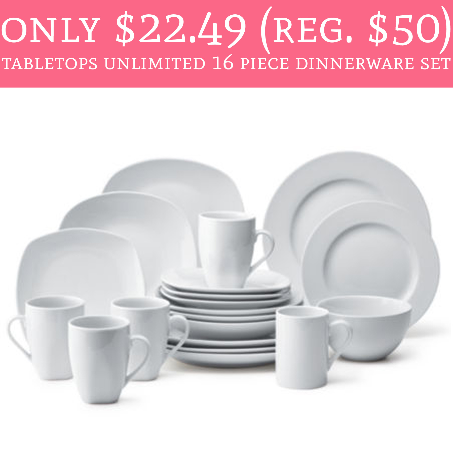 Only $22.49 (Regular $50) Tabletops Unlimited 16 Piece Dinnerware ...