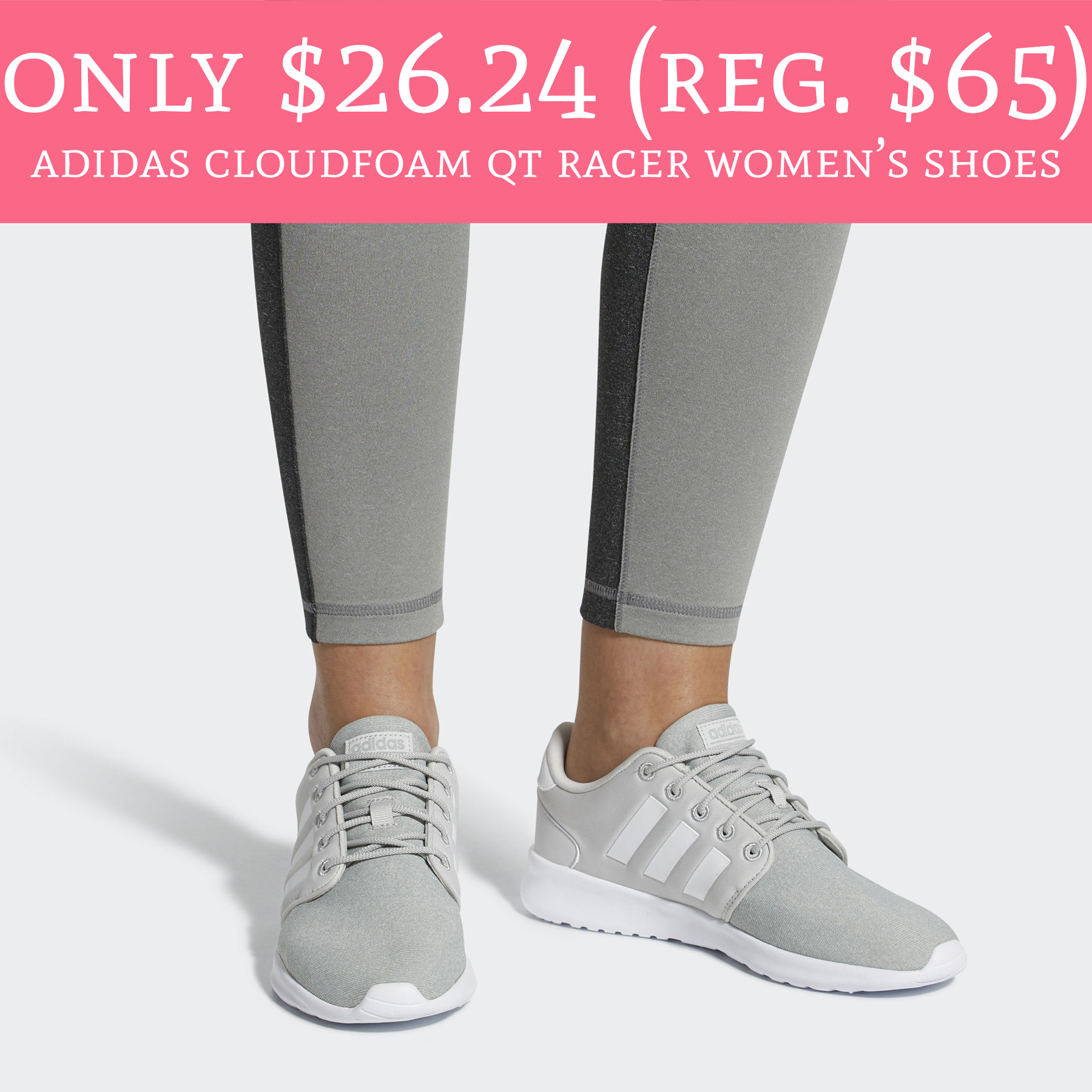 94f6059a8cb5 Need new workout shoes ! Head to ebay.com where the Official Adidas eBay  store is offering Adidas CloudFoam QT Racer Women s ...