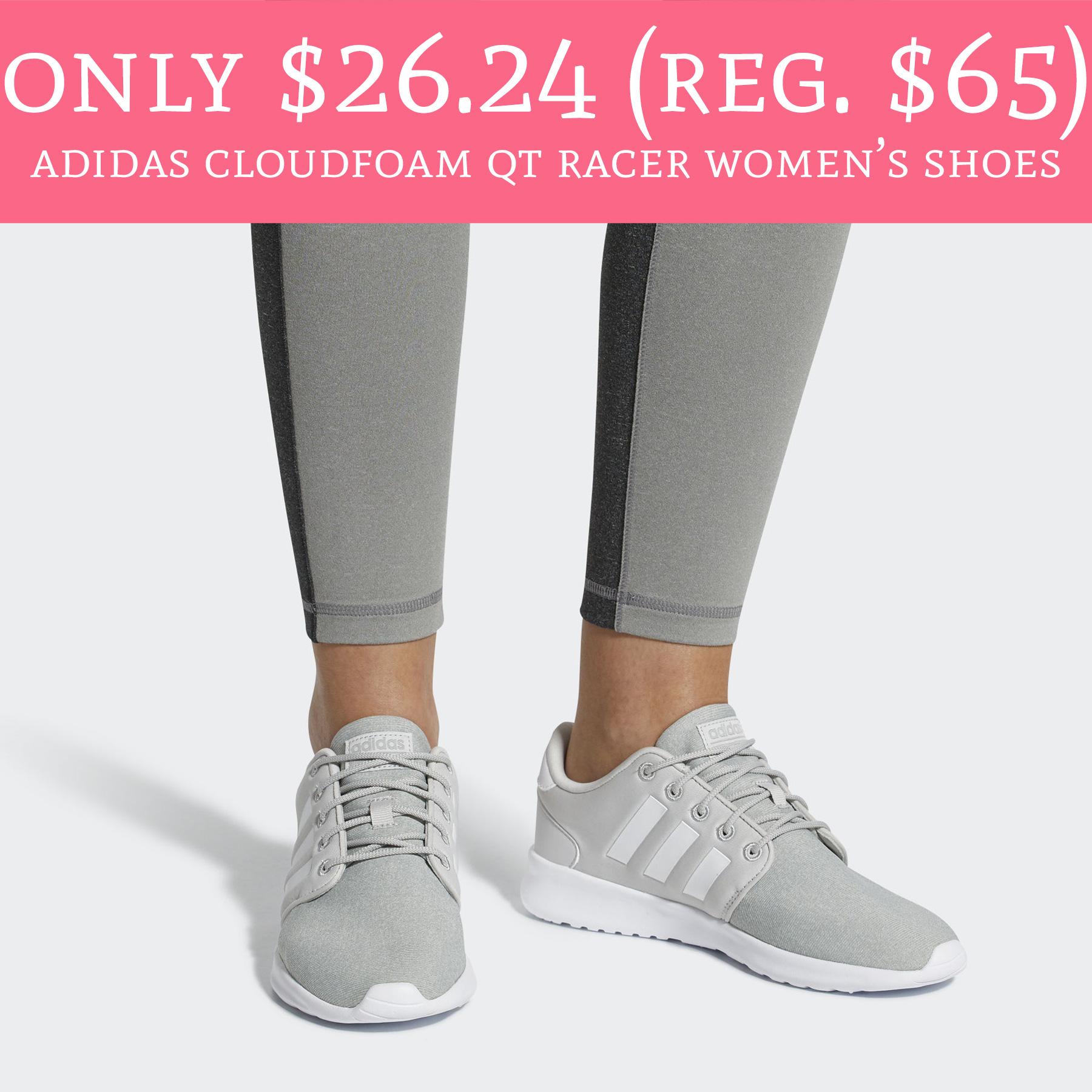 Only $26.24 (Regular $65) Adidas CloudFoam QT Racer Women's Shoes ...