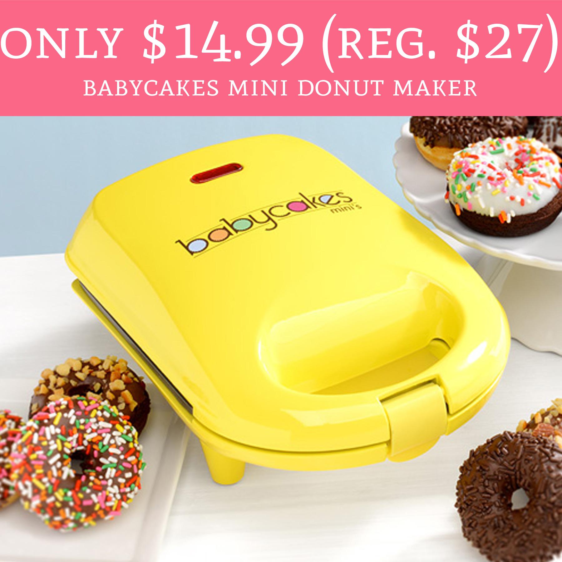 Only 1499 Regular 27 Babycakes Mini Donut Maker FREE Shipping