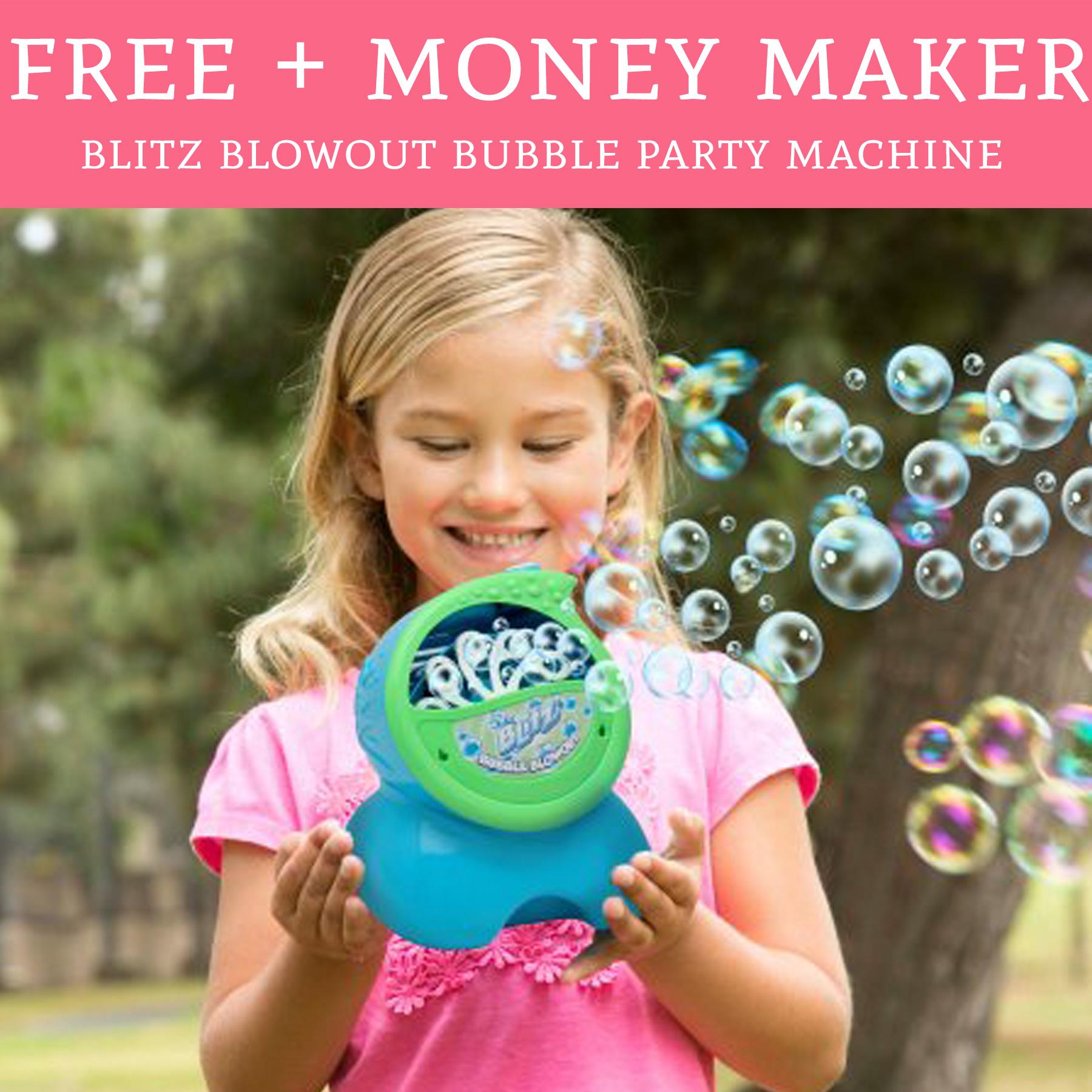 Free Money Maker Blitz Blowout Bubble Party Machine Deal