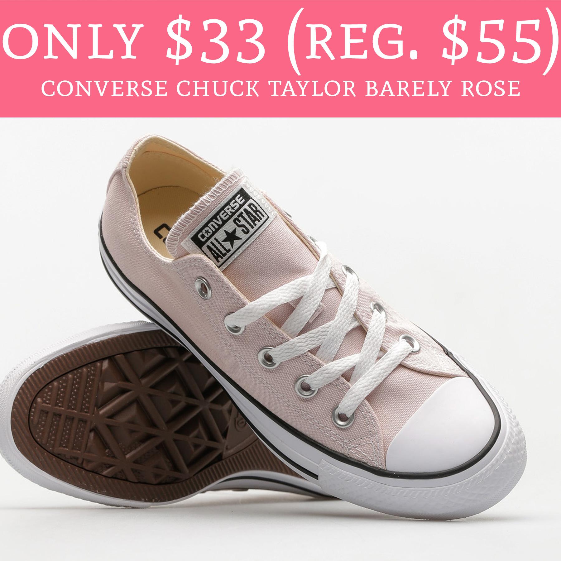 194af0316e2c44 RUN!  33 (Regular  55) Converse Chuck Taylor Barely Rose Sneakers ...