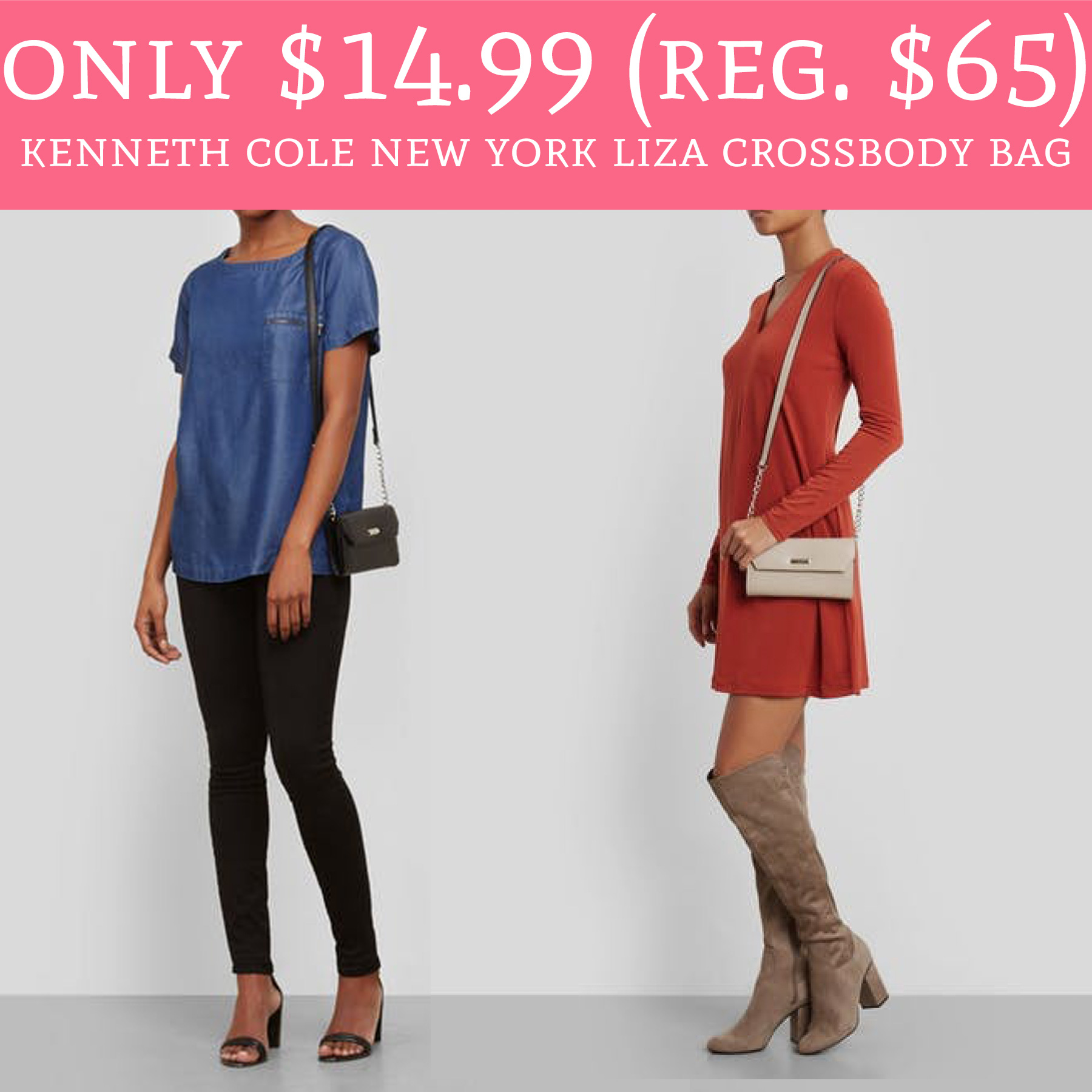 d02784ce2 Only $14.99 (Regular $65) Kenneth Cole New York Liza Crossbody Bag ...