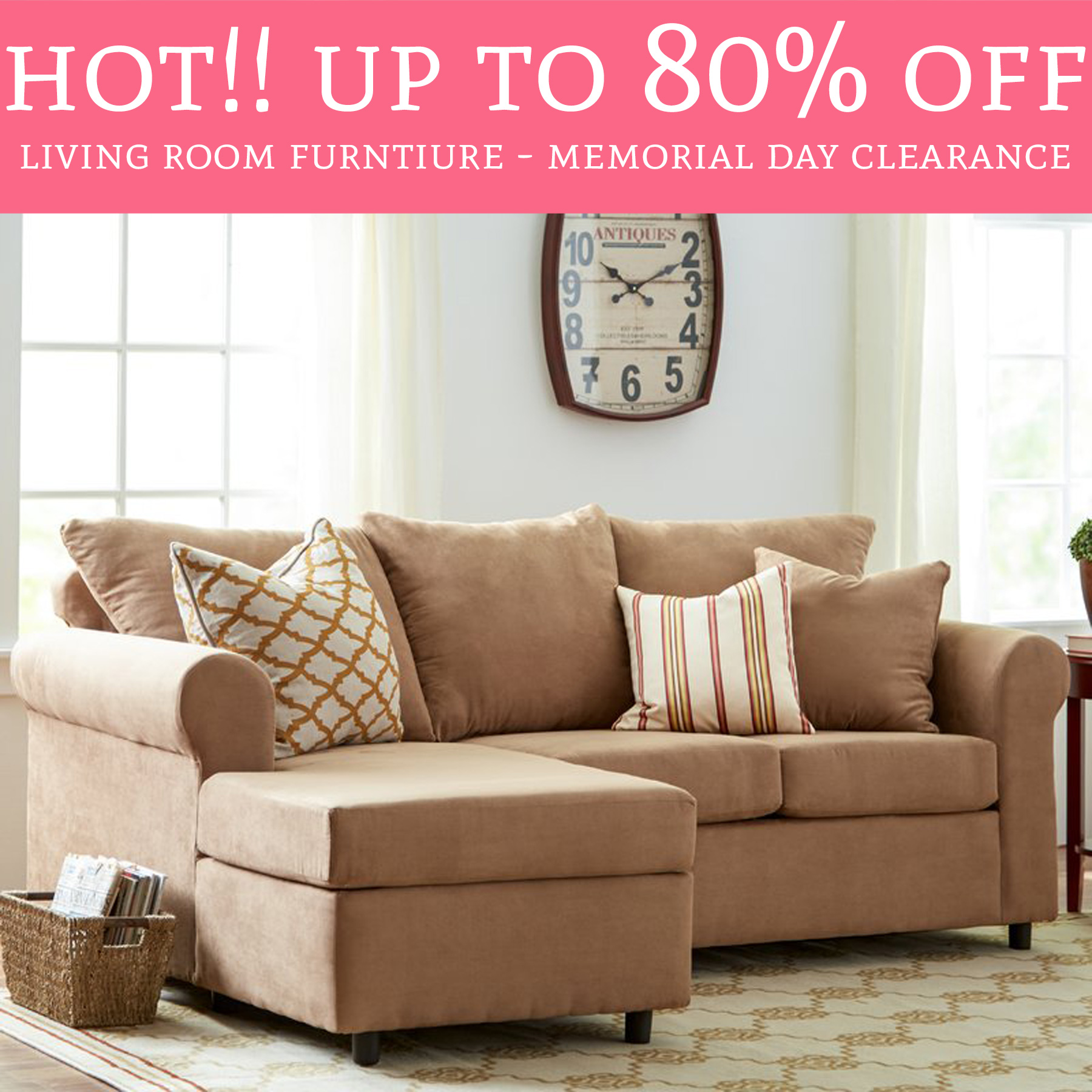 HOT! Up To 7% Off Living Room Furniture - Memorial Day Clearance