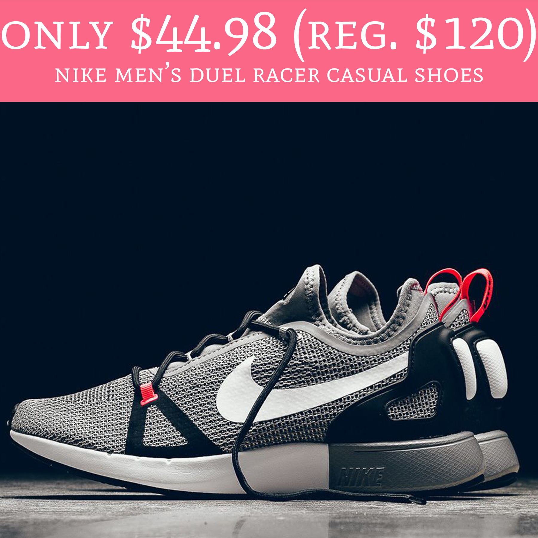 buy online a2346 58a1c Hint Fathers Day! Head over to FinishLine.com where you can order Nike  Mens Duel Racer Casual Shoes ...
