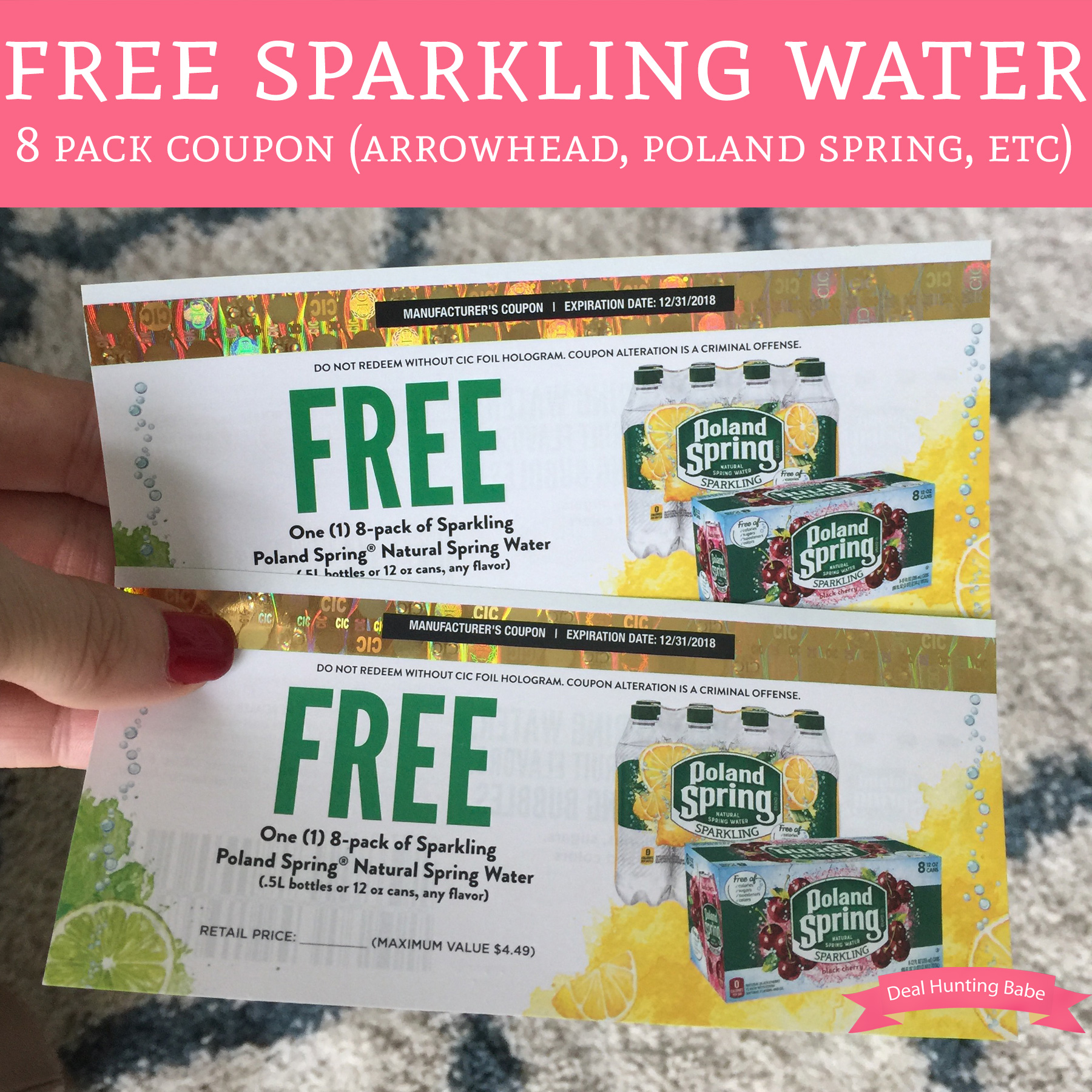 free sparkling water 8 pack coupon  arrowhead  poland