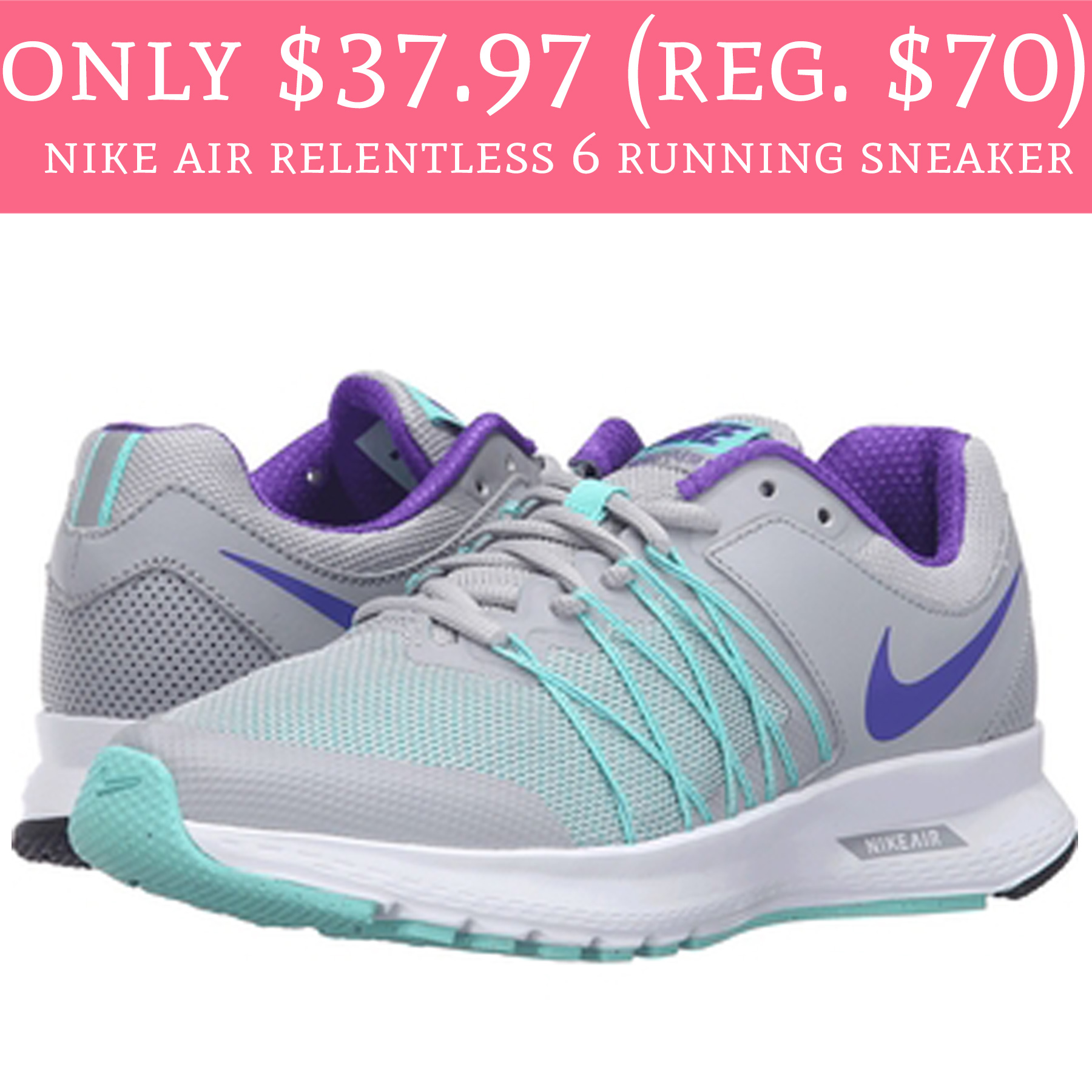 official photos 6a044 7ae37 Only $37.97 (Regular $70) Nike Air Relentless 6 Running ...