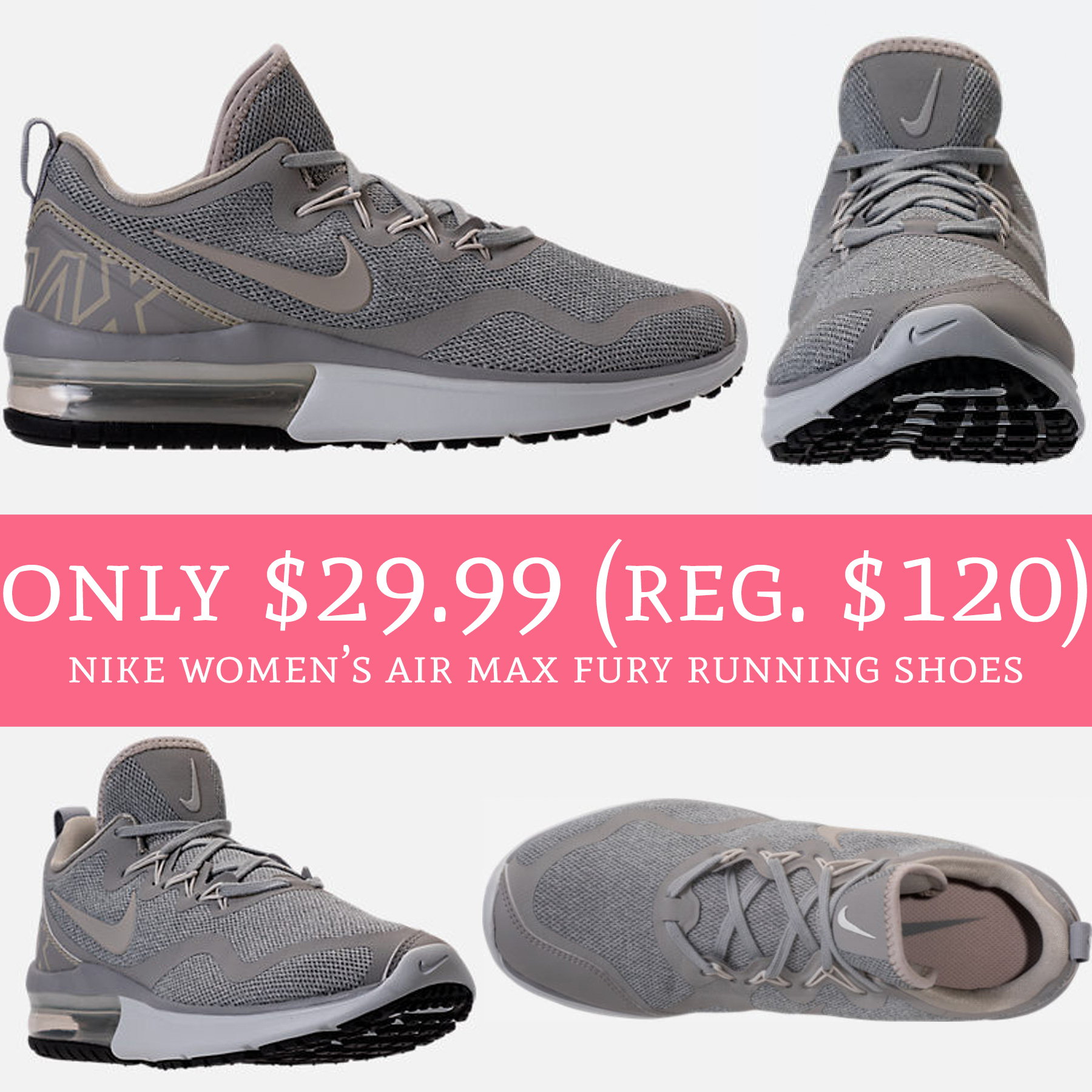 buy online 0c1e2 edf31 Only $29.99 (Regular $120) Nike Women's Air Max Fury Running ...