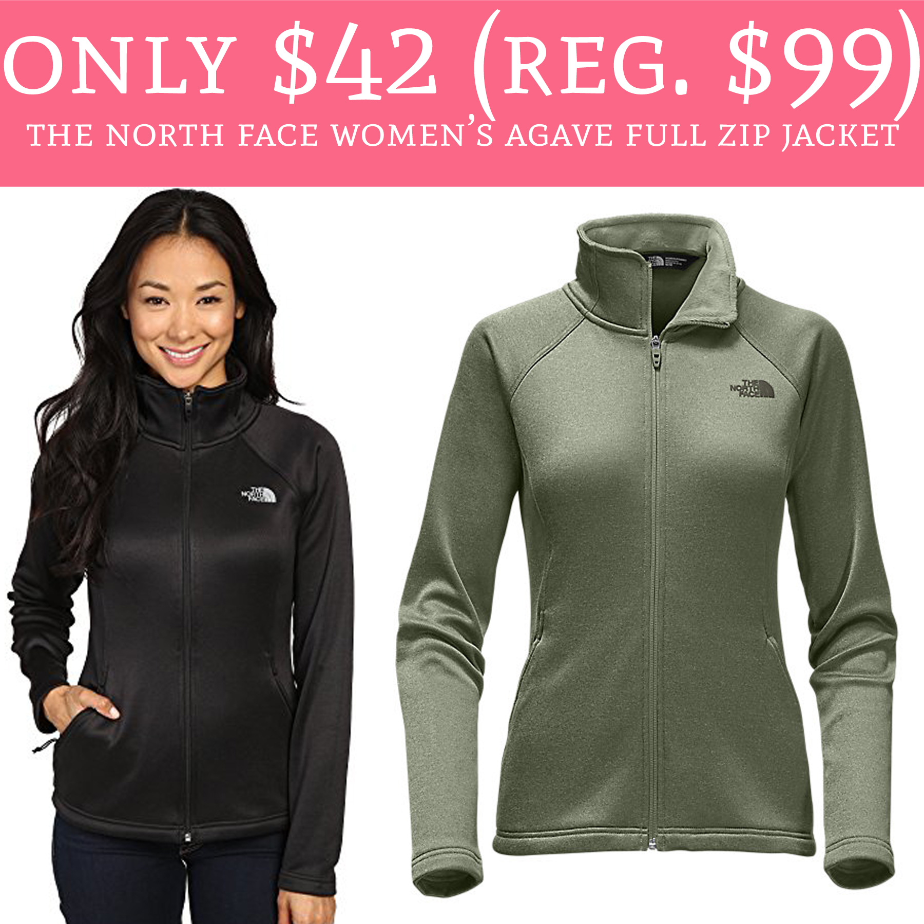 822f8ae07 Only $42 (Regular $99) The North Face Women's Agave Full Zip Jacket ...