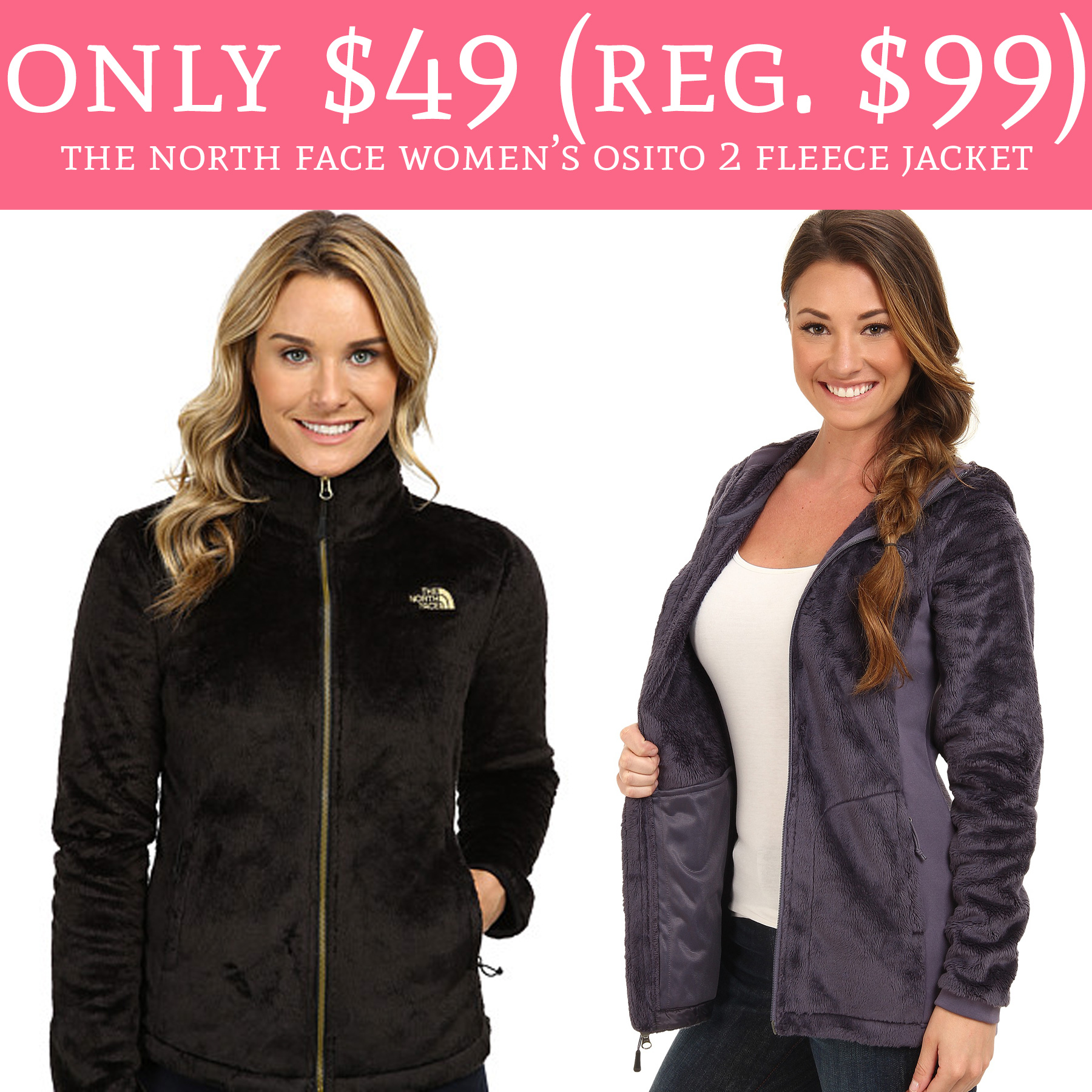 b6f0c41fb2 Only  49 (Regular  99) The North Face Women s Osito 2 Fleece Jacket ...