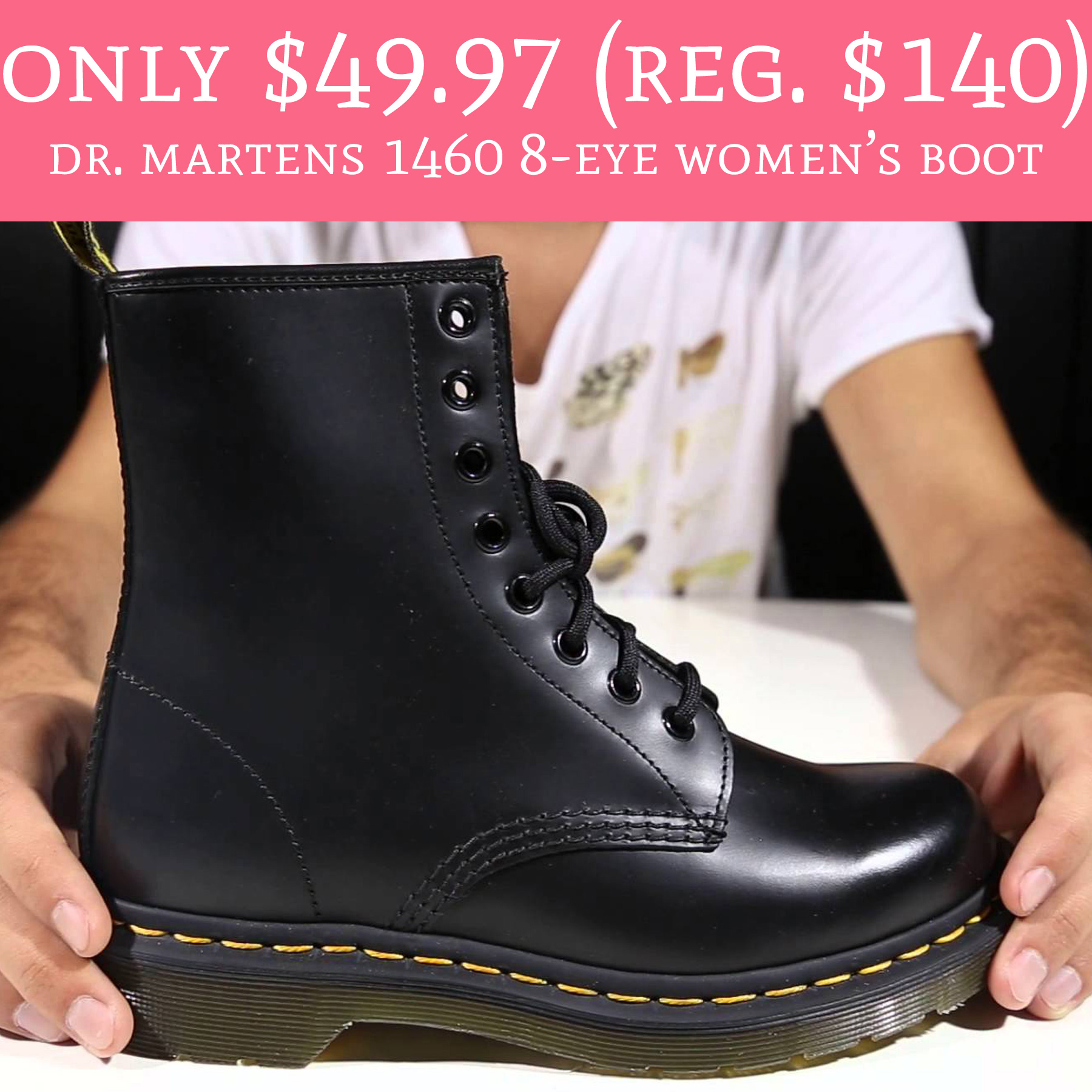 dr martens 1460 8 eye women's boot Deal Hunting Babe