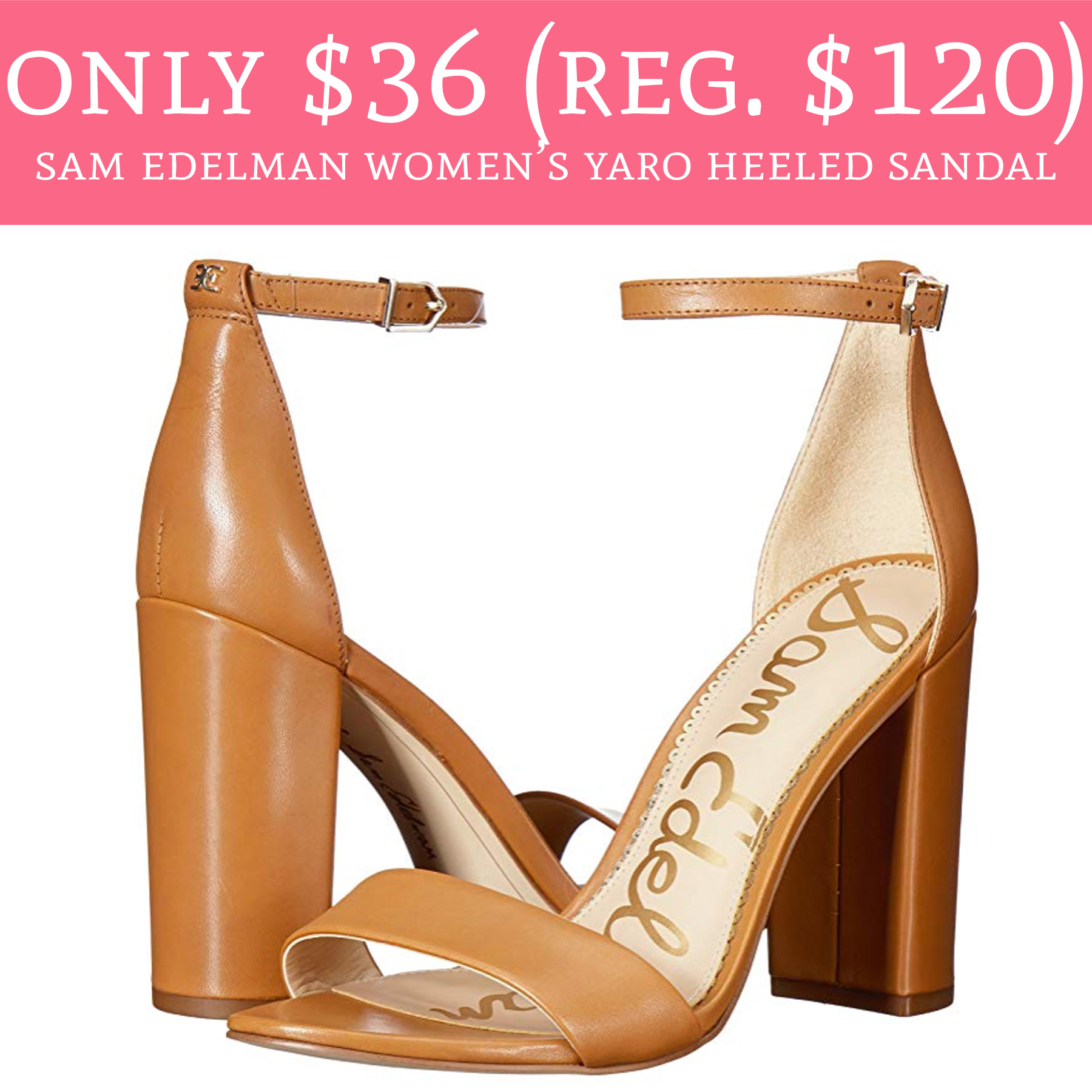 7478ac74ef87 Only  36 (Regular  120) Sam Edelman Women s Yaro Heeled Sandal ...