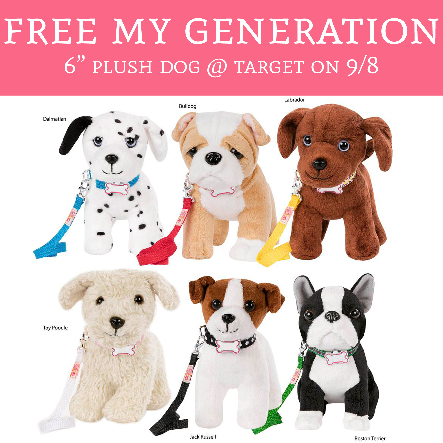 FREE My Generation 6 Plush Dog Target On 9 8