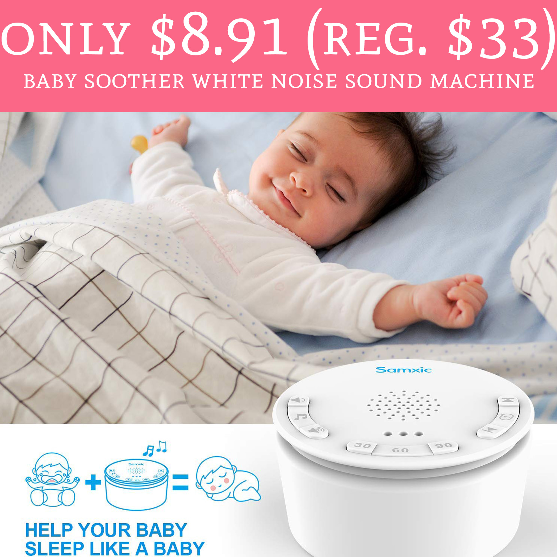 White Noise Baby: Only $8.91 (Reg. $33) Baby Soother White Noise Sound