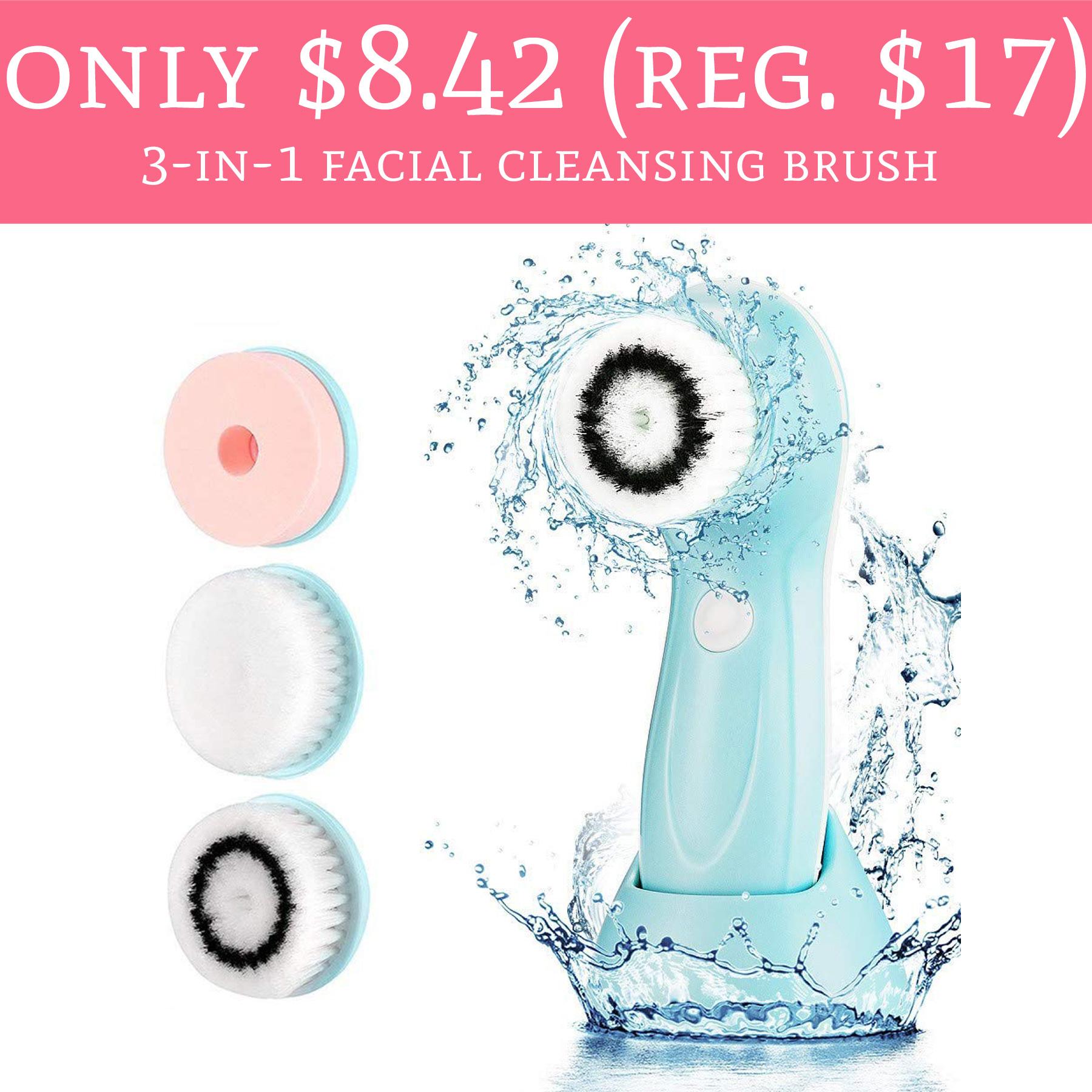 Only 8 42 Regular 17 3 In 1 Facial Cleansing Brush