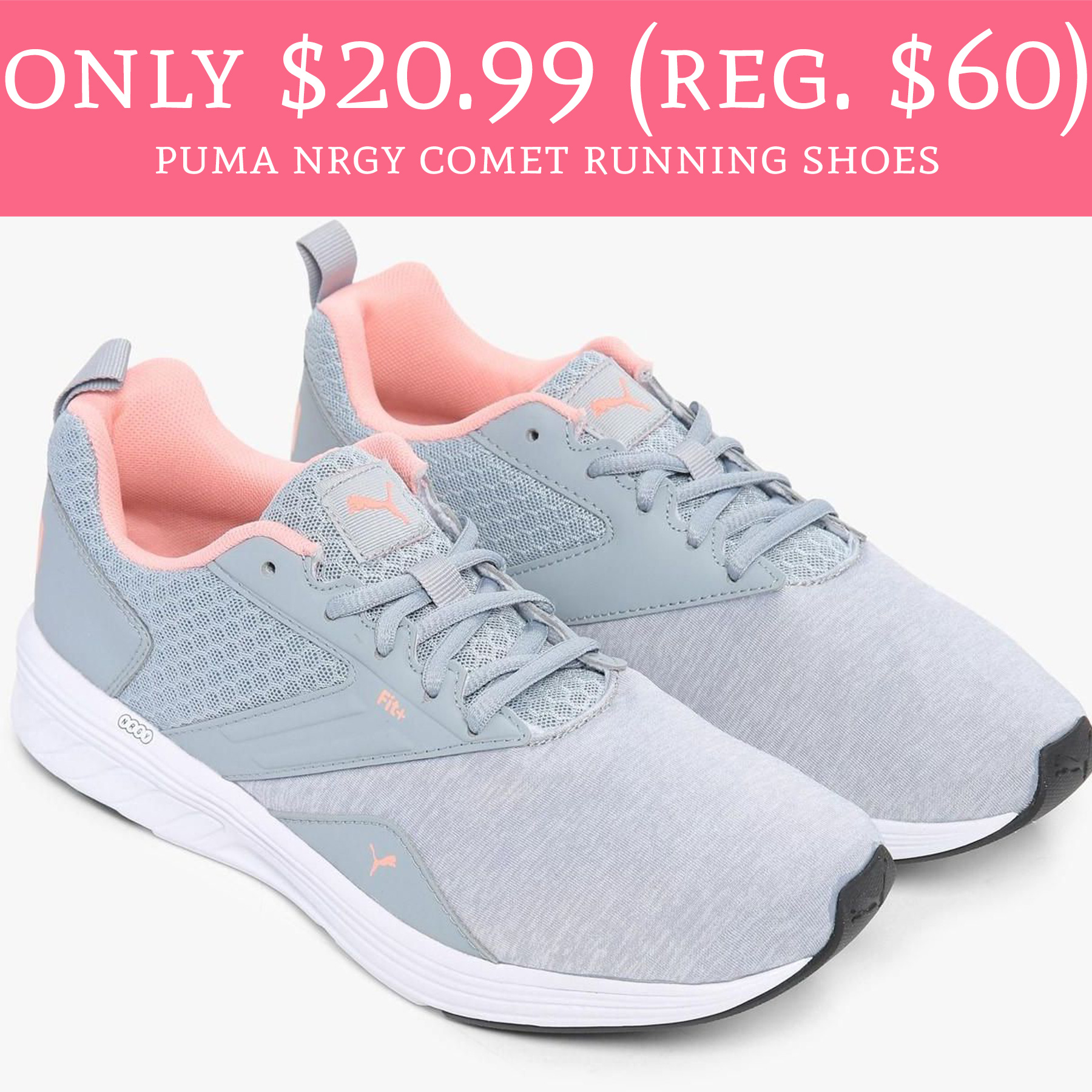 Only $20.99 (Regular $60) Puma Nrgy Comet Running Shoes - Deal ...