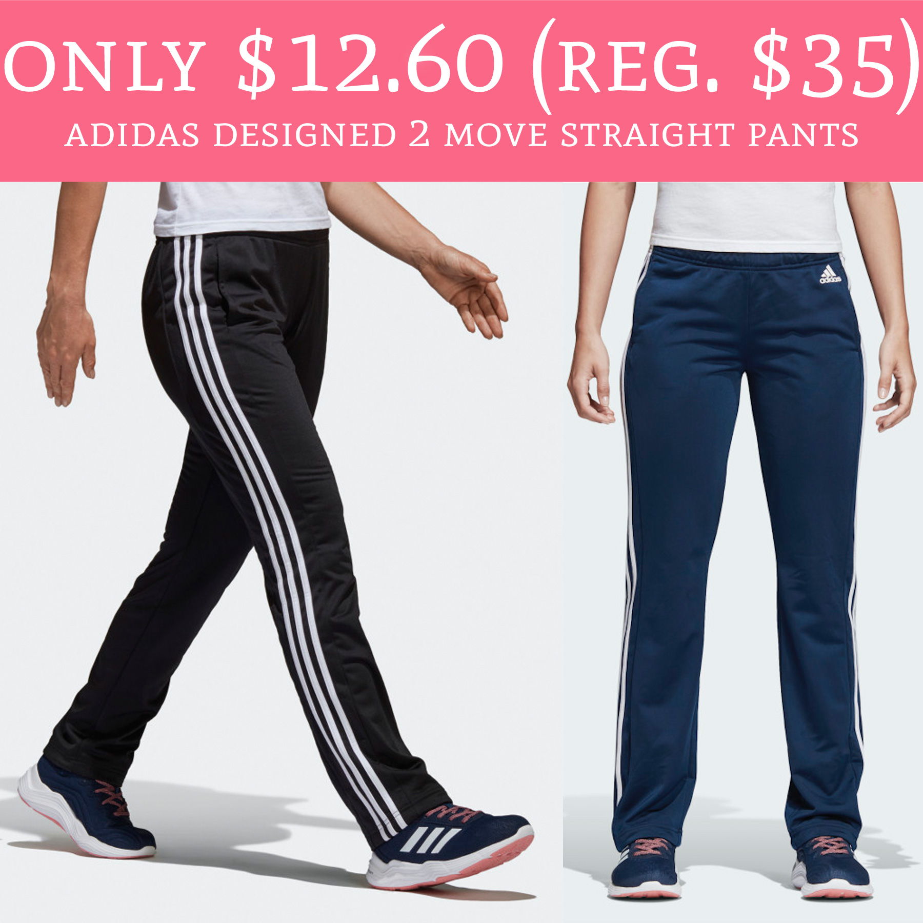 65c45d228ba5 This price is HOT!! 😱. Hurry over to Adidas.com to score Women's Designed  2 Move Straight Pants ...