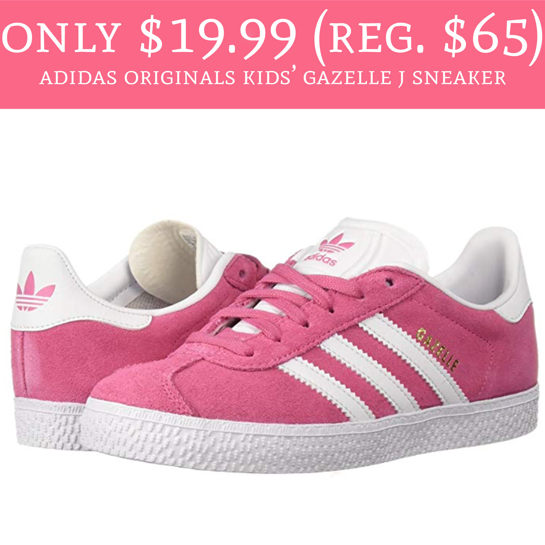 f5d5e2844bc5 How cute are these kids shoes ! Hurry over to Amazon.com to order Adidas  Originals Kids  Gazelle J ...