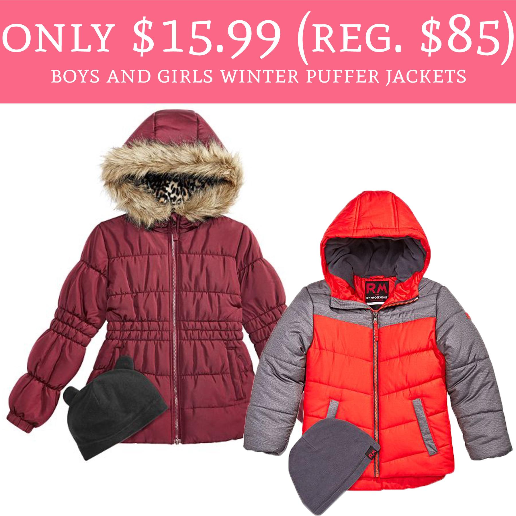 19a36477d Only $15.99 (Regular $85) Boys and Girls Puffer Jackets - Deal ...
