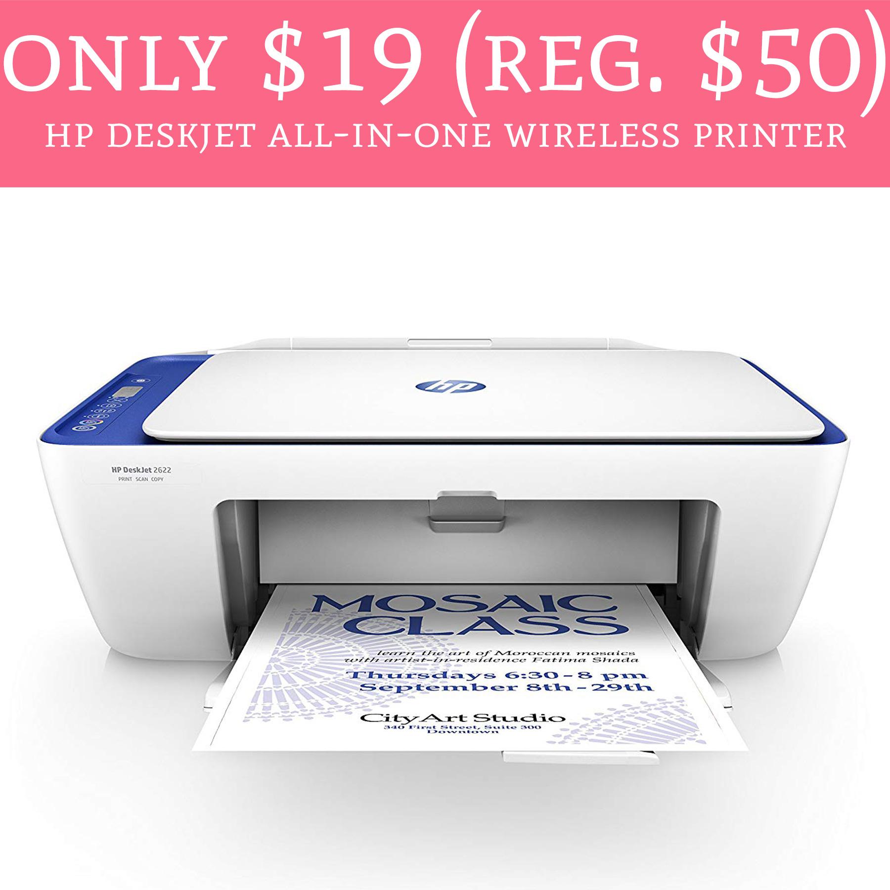 Only $19 (Regular $50) HP Deskjet All-in-One Wireless