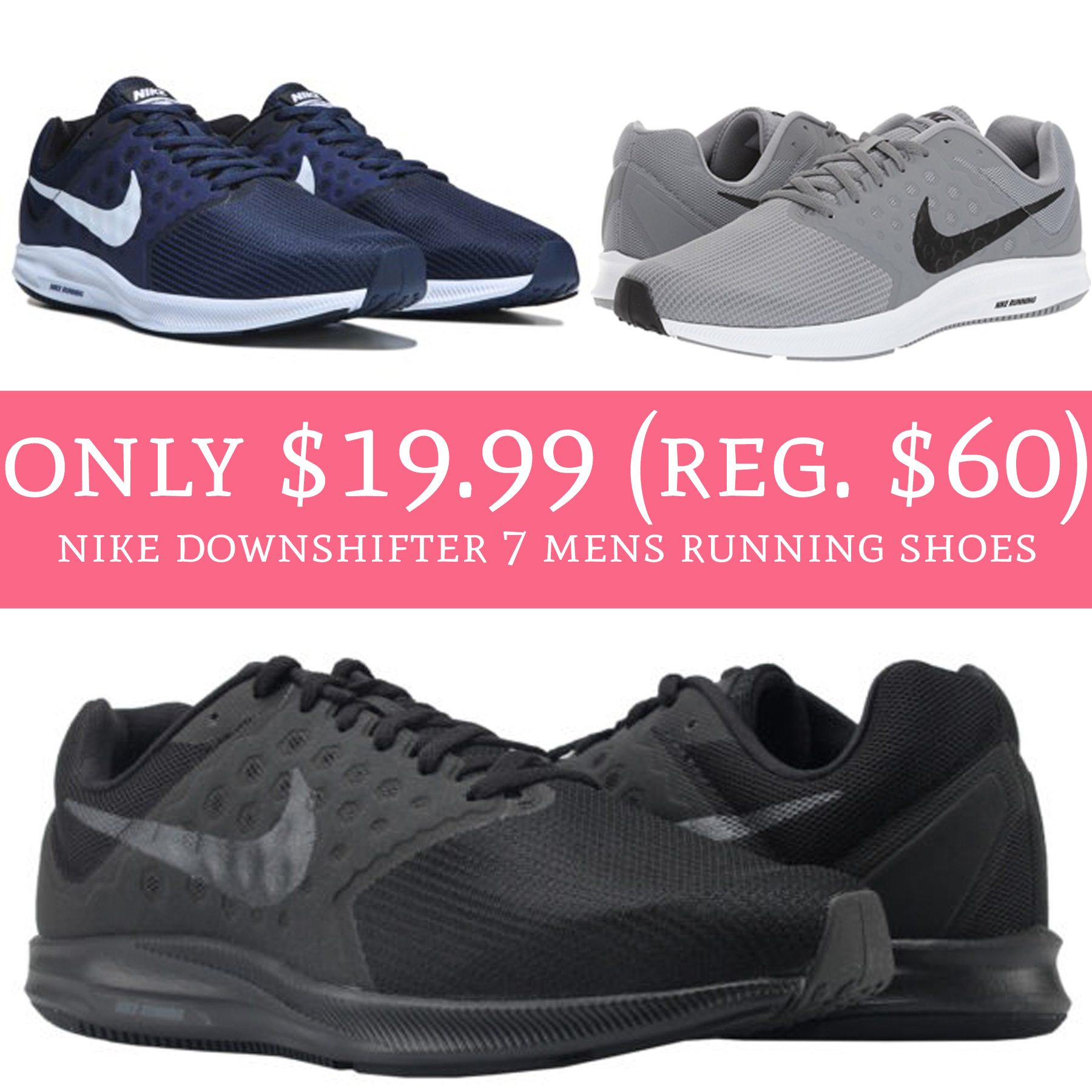 07a6844bafb61 Only  19.99 (Reg.  60) Nike Downshifter 7 Men s Running Shoes - Deal ...