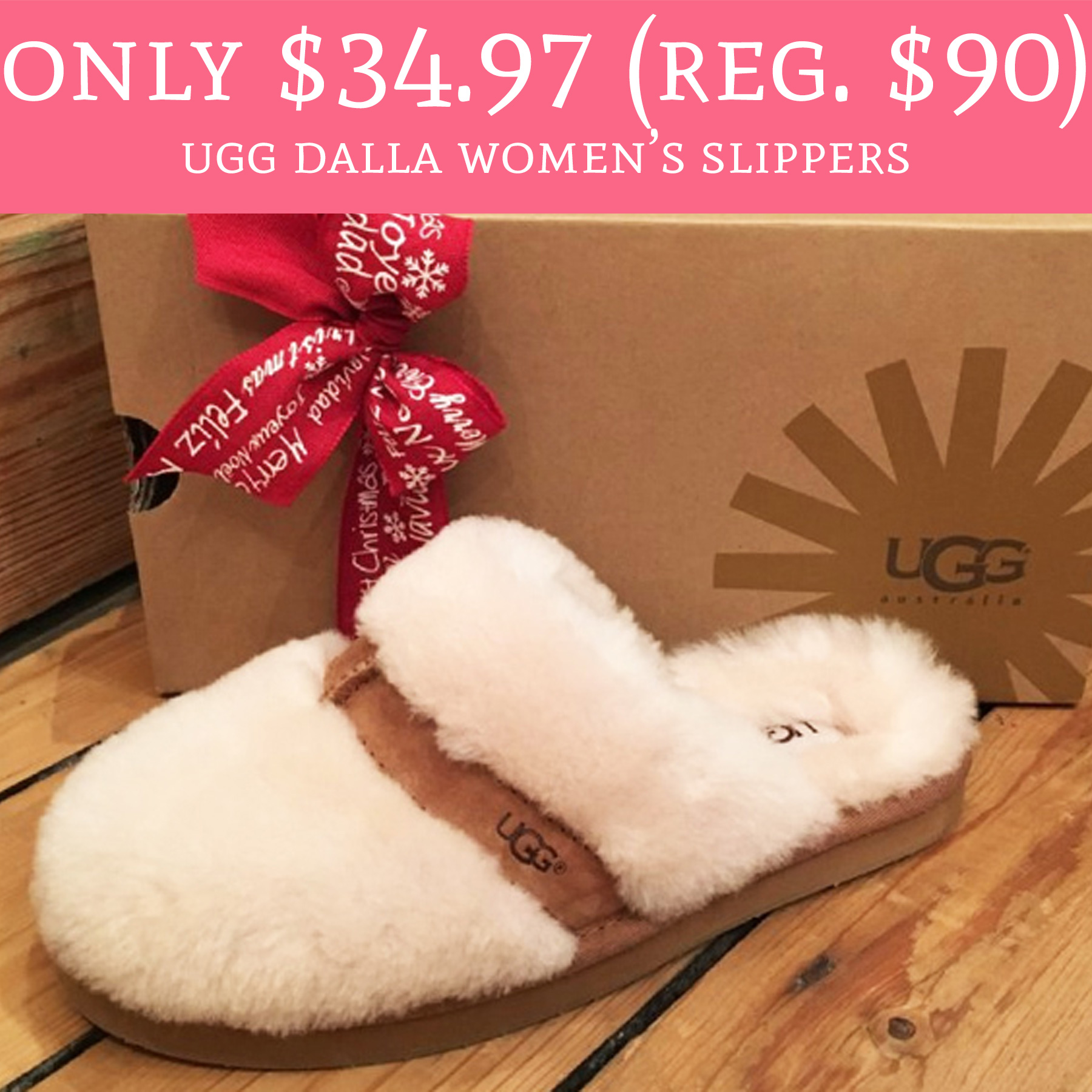 2c8b3e2f6b8 Only $34.97 (Regular $90) Ugg Dalla Women's Slippers - Deal Hunting Babe