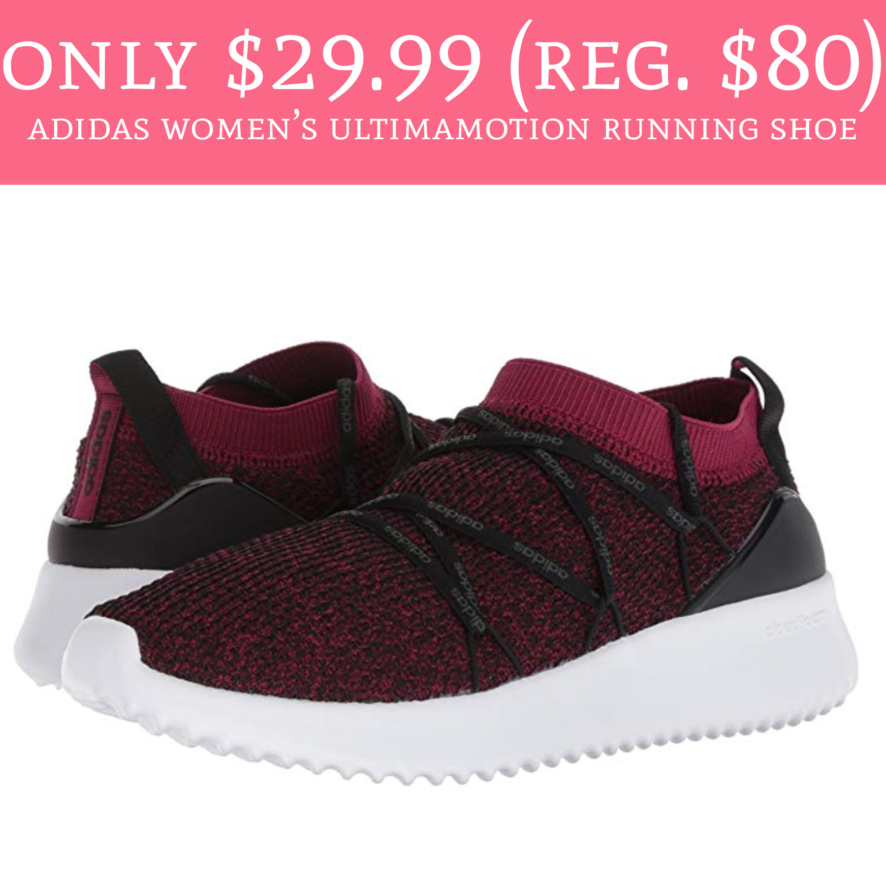 4aa5fdc95 Only  29.99 (Regular  80) Adidas Women s Ultimamotion Running shoes - Deal  Hunting Babe