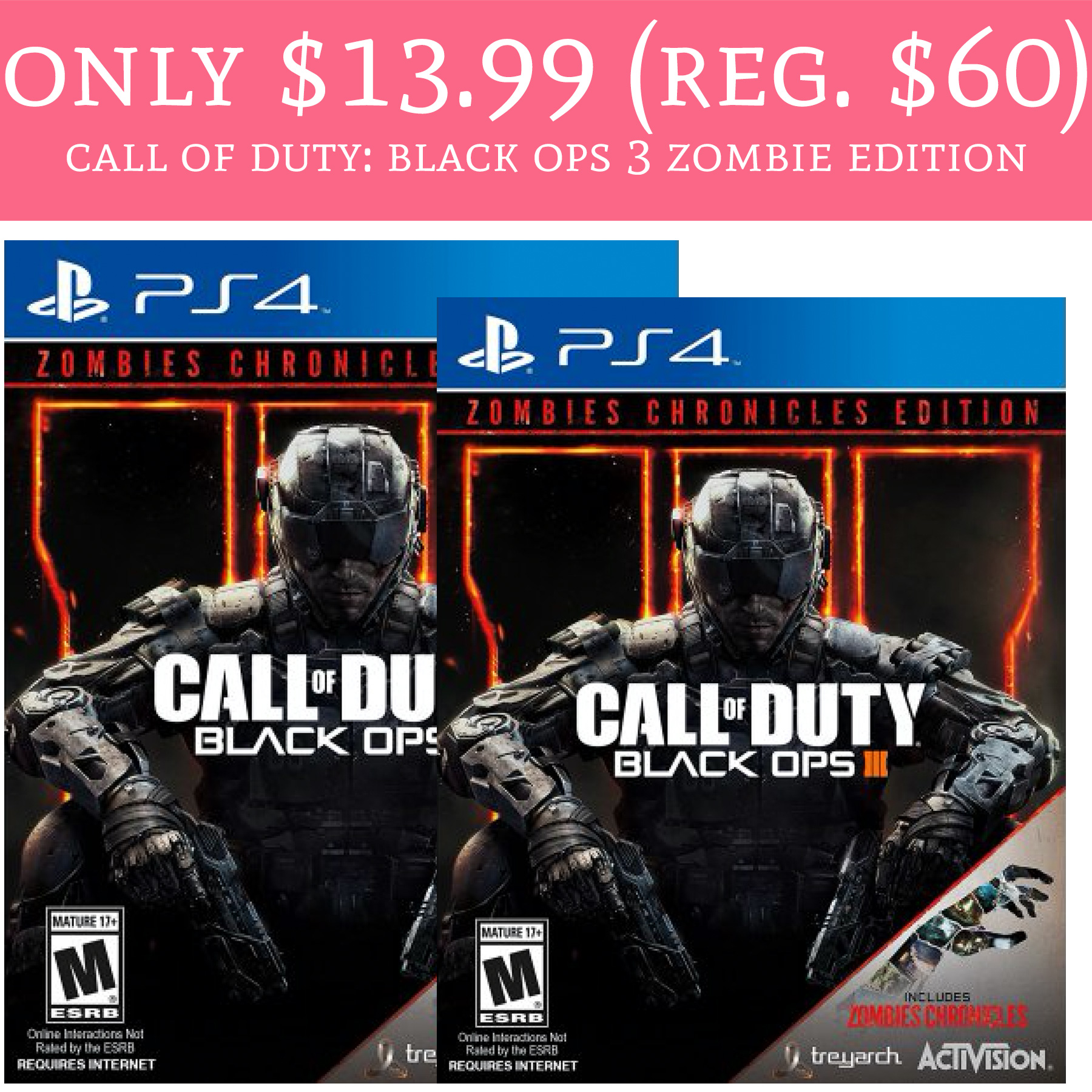 Only $13 99 (Reg  $60) Call of Duty: Black Ops 3 Zombie