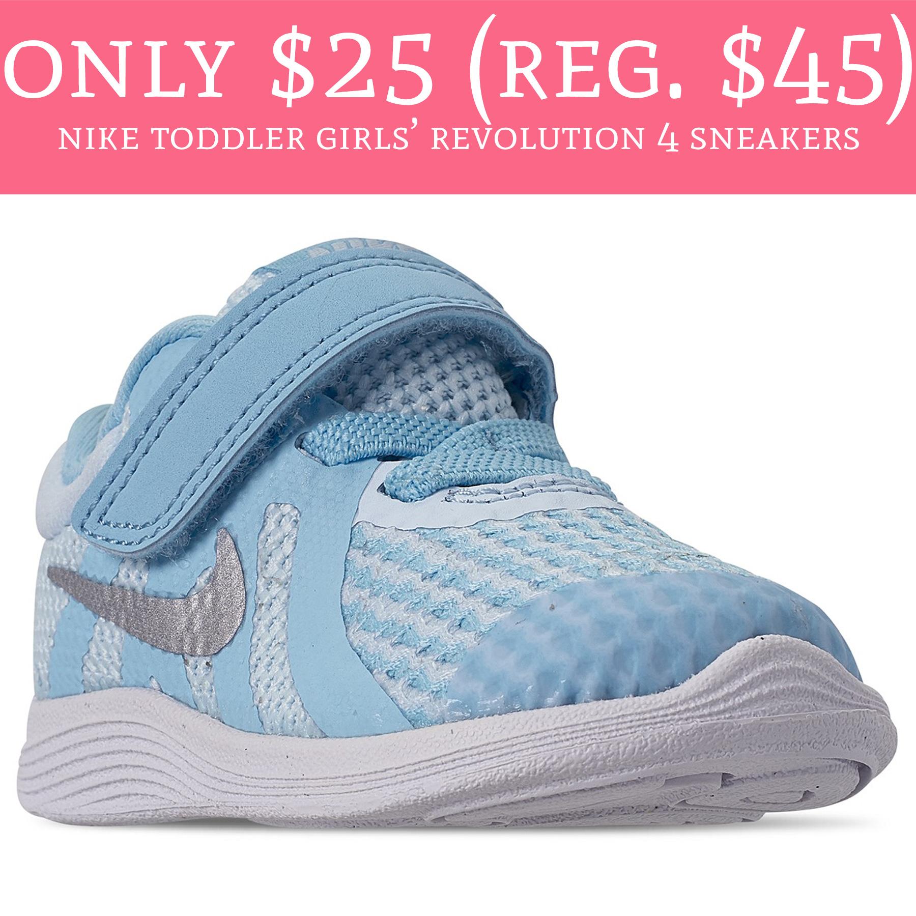0351c015291c5 Only  25 (Reg.  45) Nike Toddler Girls  Revolution 4 Sneakers - Deal ...