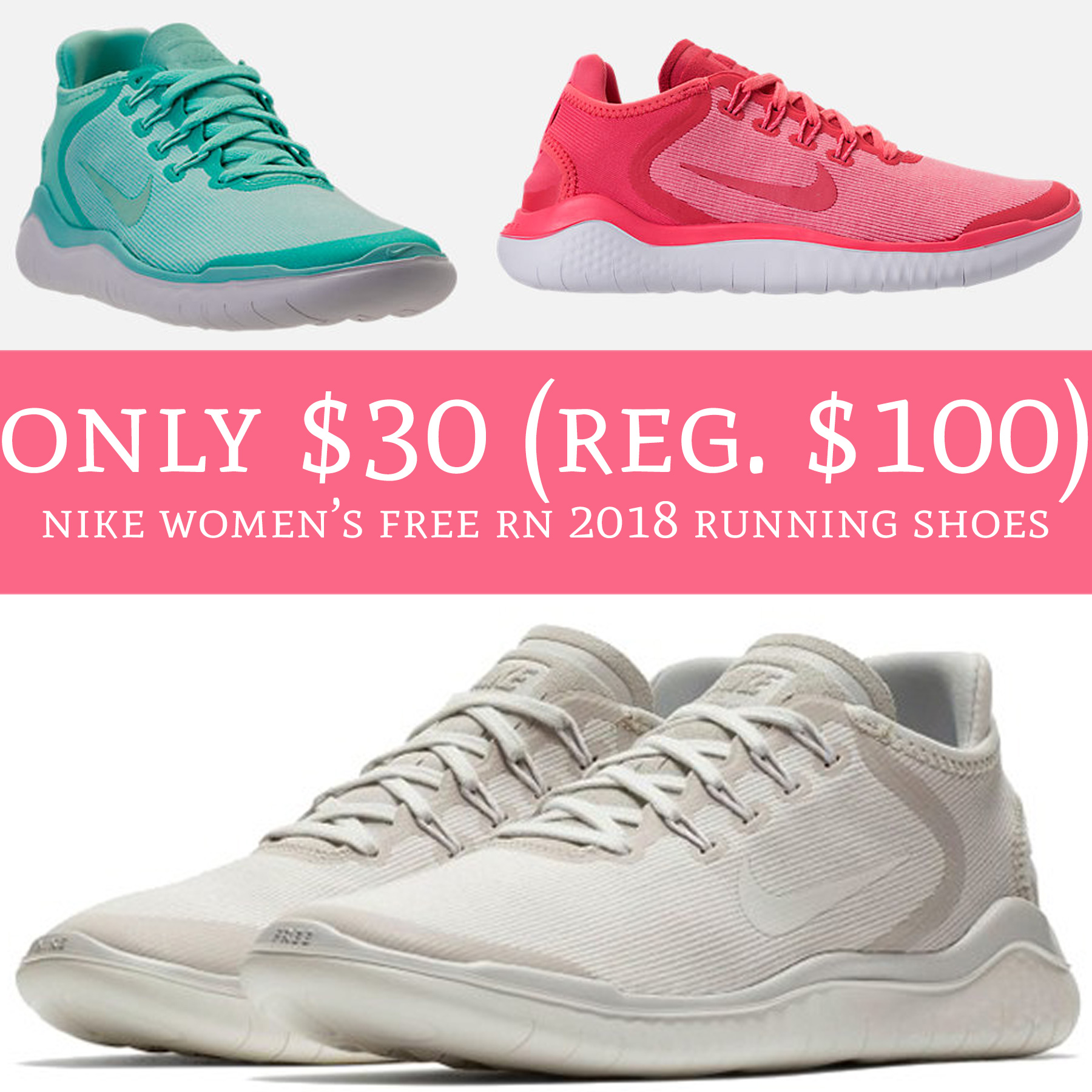 791d7020cb5 RUN! These won t last long!! 😱. Run over to FinishLine.com where you can  order Nike Women s Free RN 2018 Running Shoes ...