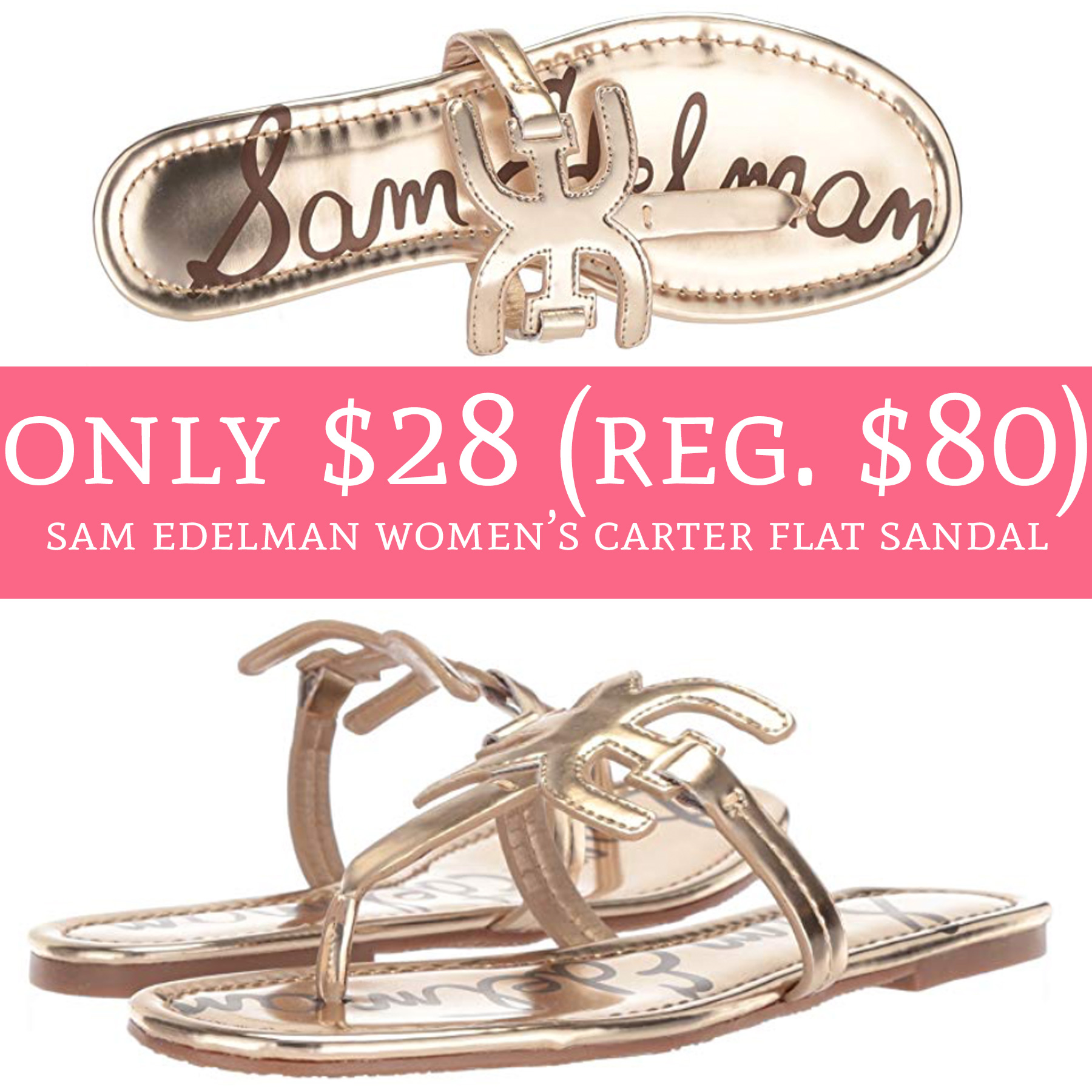 3c72d7f1104 Lowest price alert!! Hurry over to Amazon.com where you can order Sam  Edelman Women s Carter Flat Sandal ...