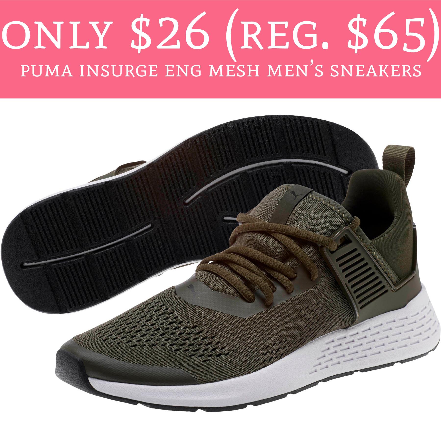only  26  reg   65  puma insurge eng mesh men u0026 39 s sneakers
