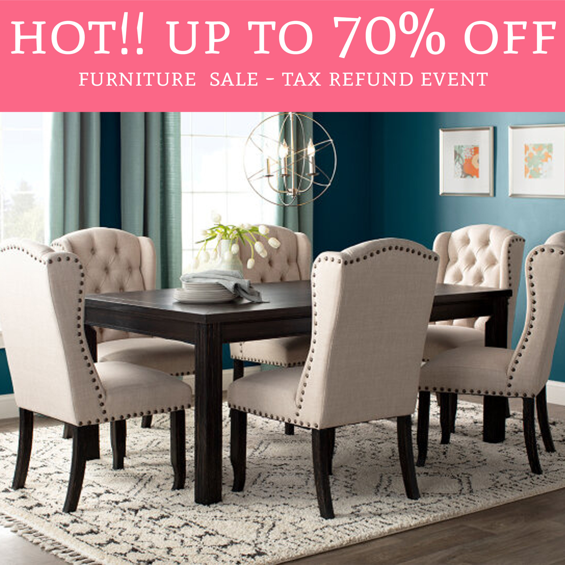 HOT! Up To 70% Off Furniture Sale