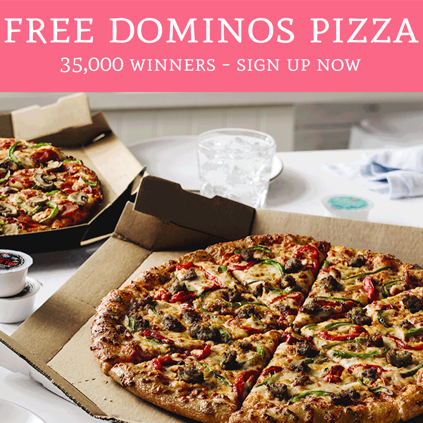 Free Dominos Pizza 35 000 Winners Sign Up Now Deal Hunting Babe