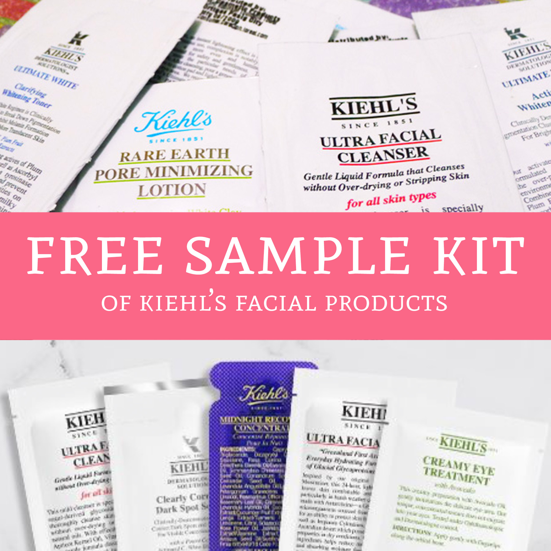 FREE Sample Kit of Kiehl's Facial Products - Deal Hunting Babe