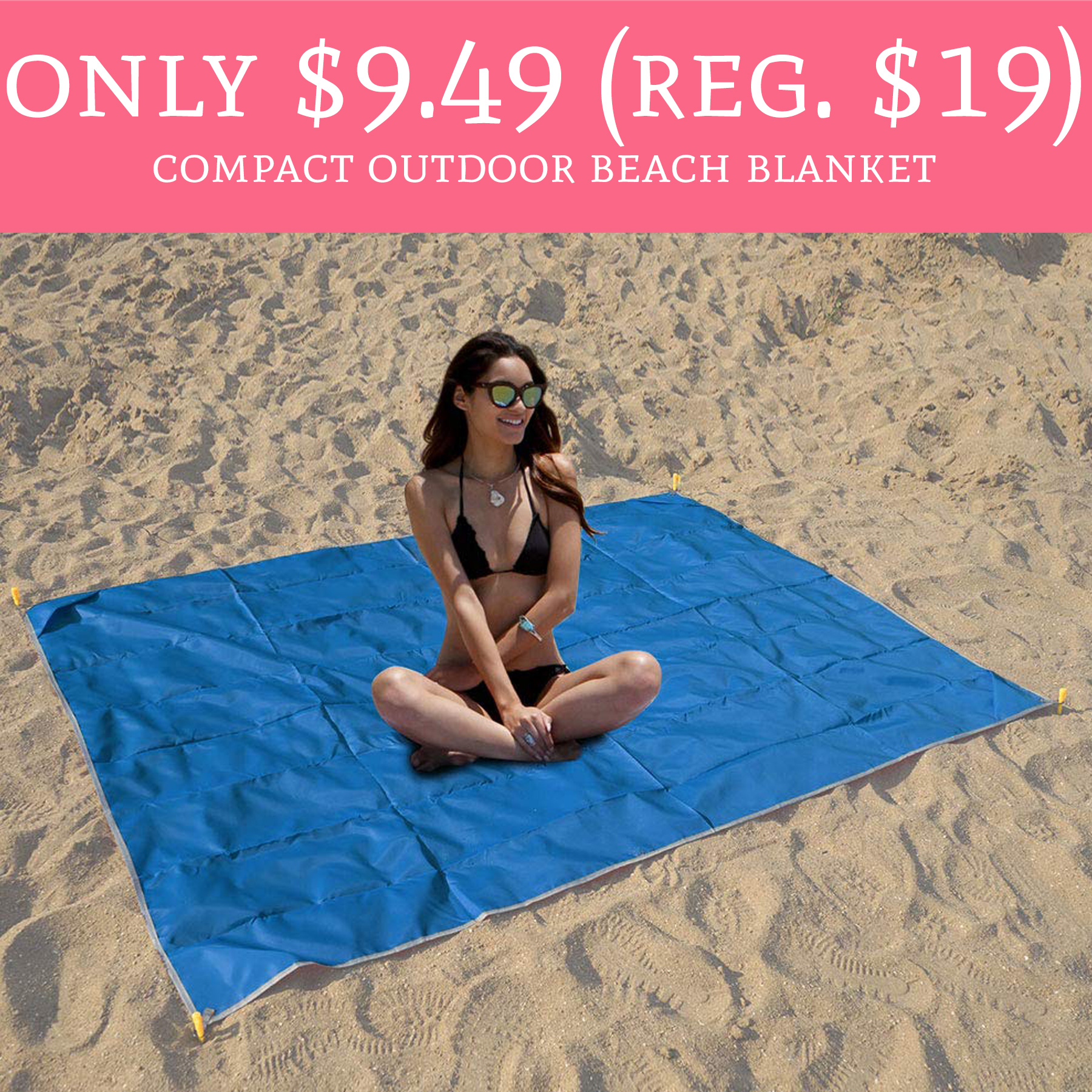 Beach Blanket No Sand: Only $9.49 (Regular $19) Compact Outdoor Beach Blanket