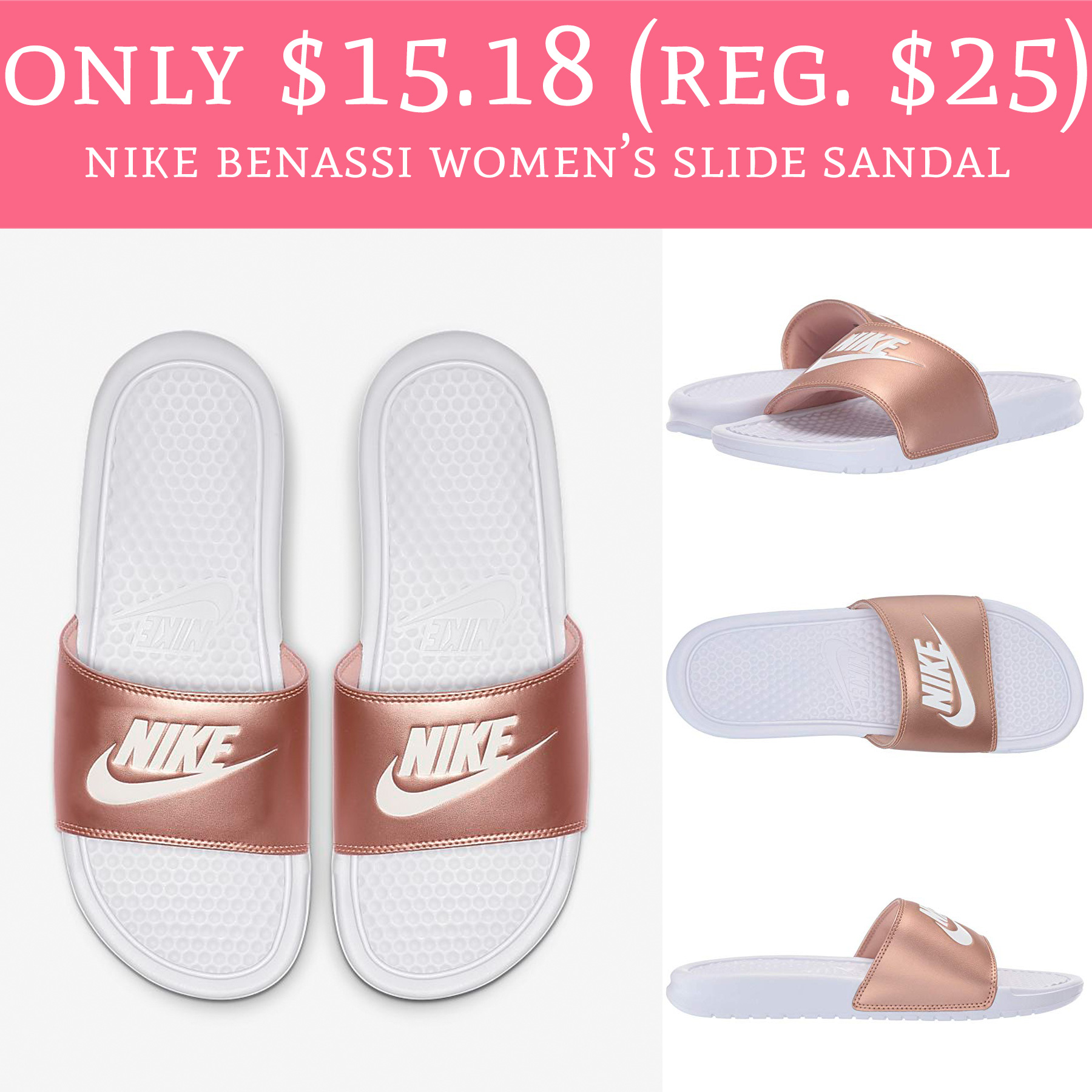 8679c1212335 Only  15.18 (Regular  25) Nike Benassi Women s Slide Sandal - Deal ...