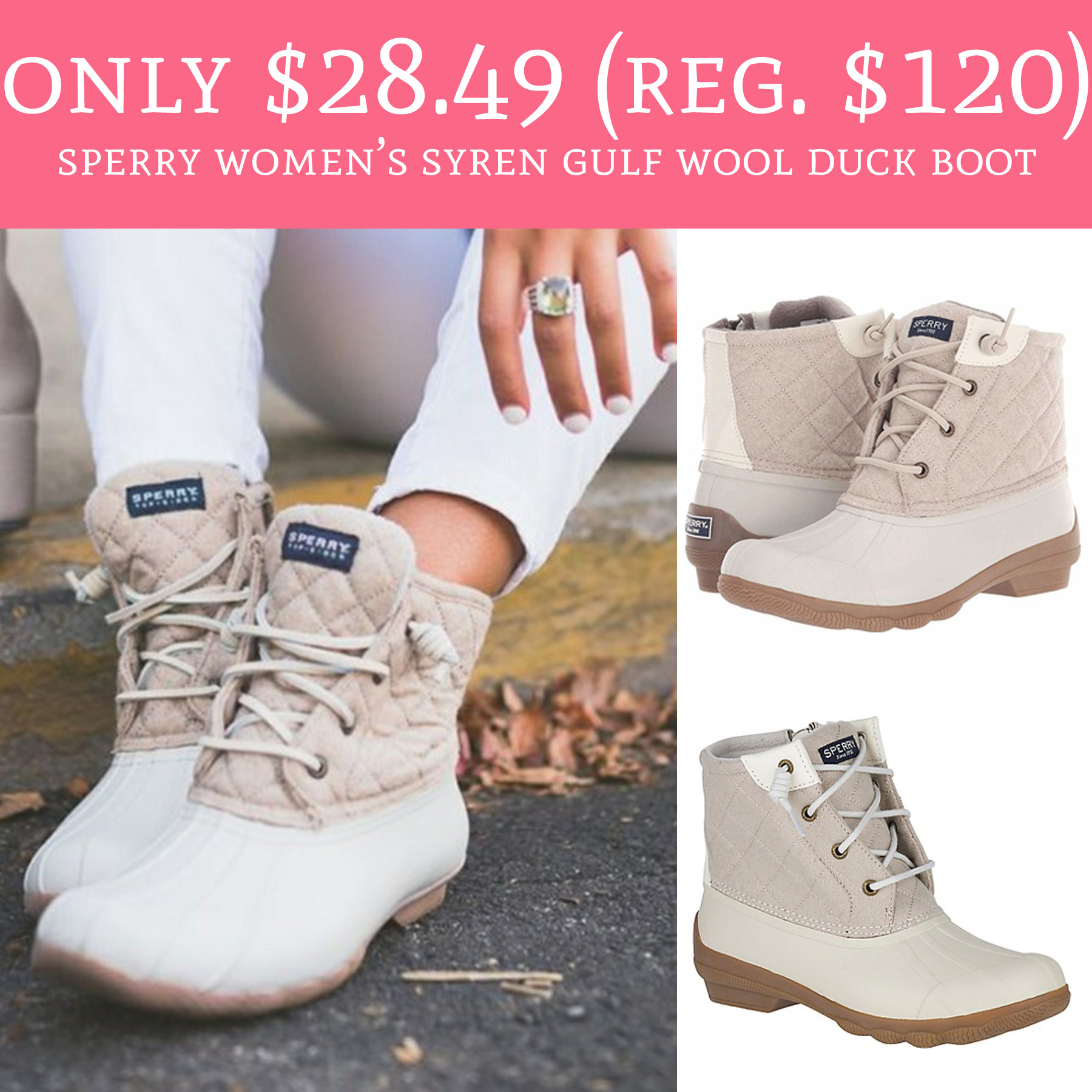 fd8068ce4 These will sell out!! Hurry over to Sperry.com where you can score the Sperry  Women's Syren Gulf Wool Duck Boot ...