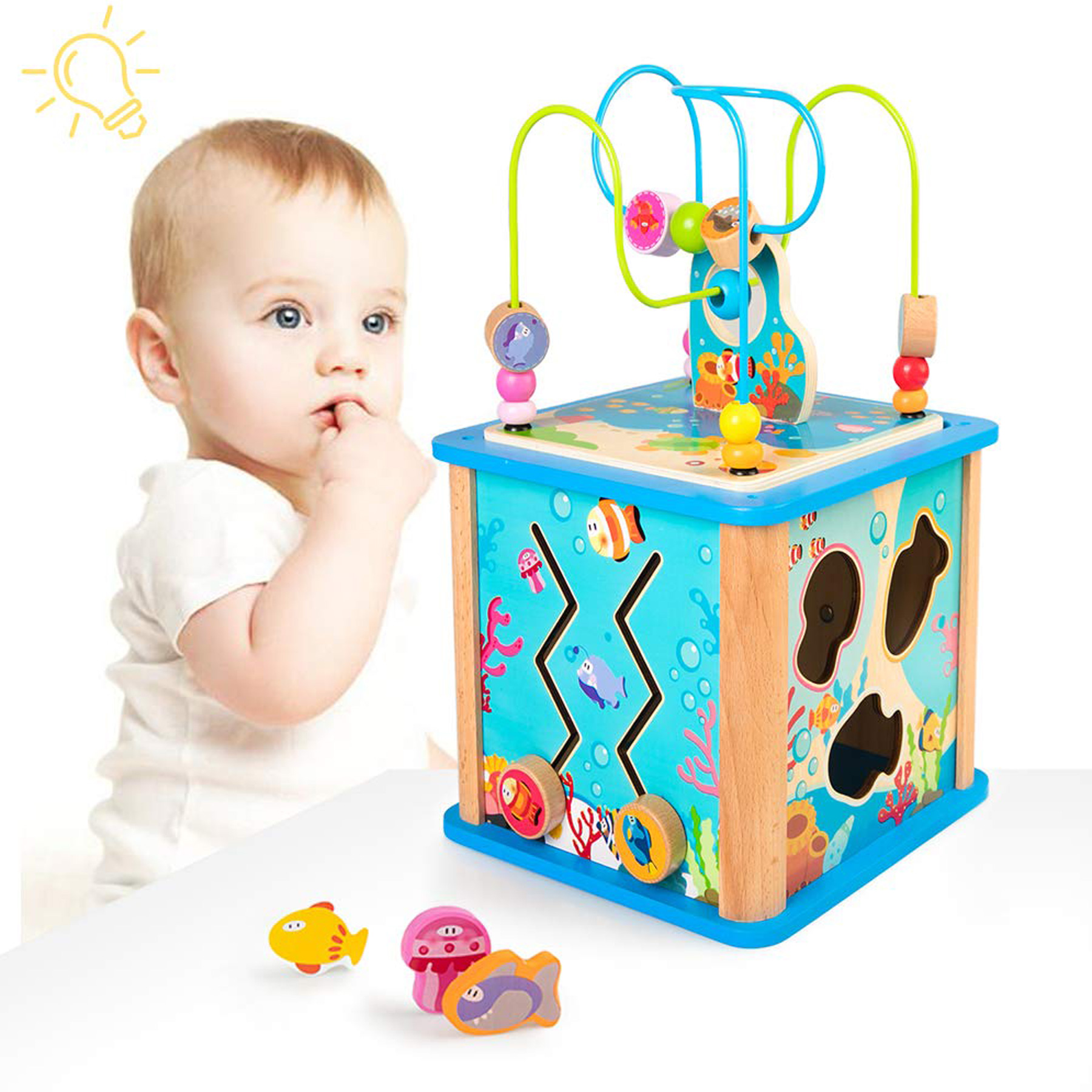 50% off Wooden Learning Cube Toy - Deal Hunting Babe
