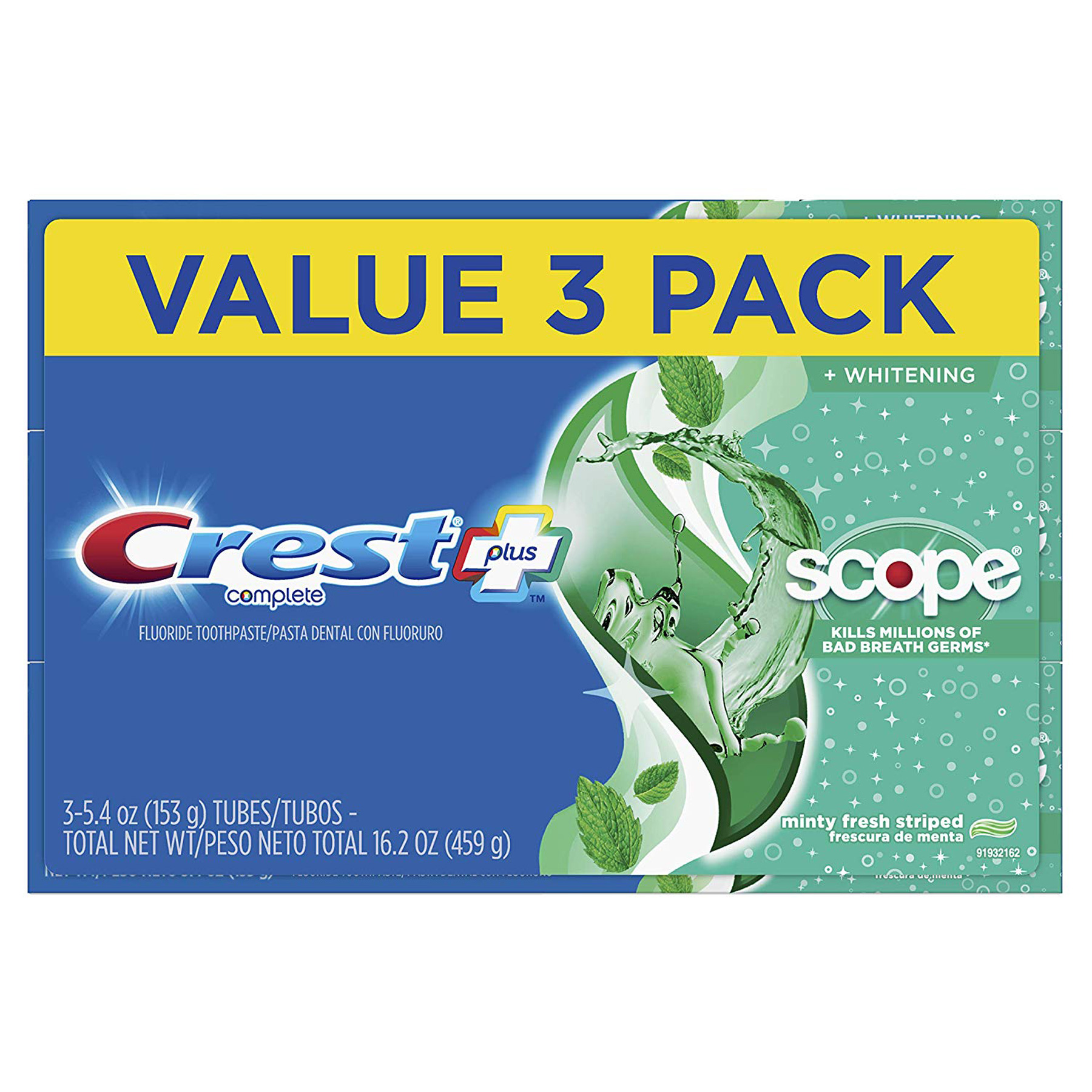45 Off Crest Complete Whitening Scope Toothpaste Triple