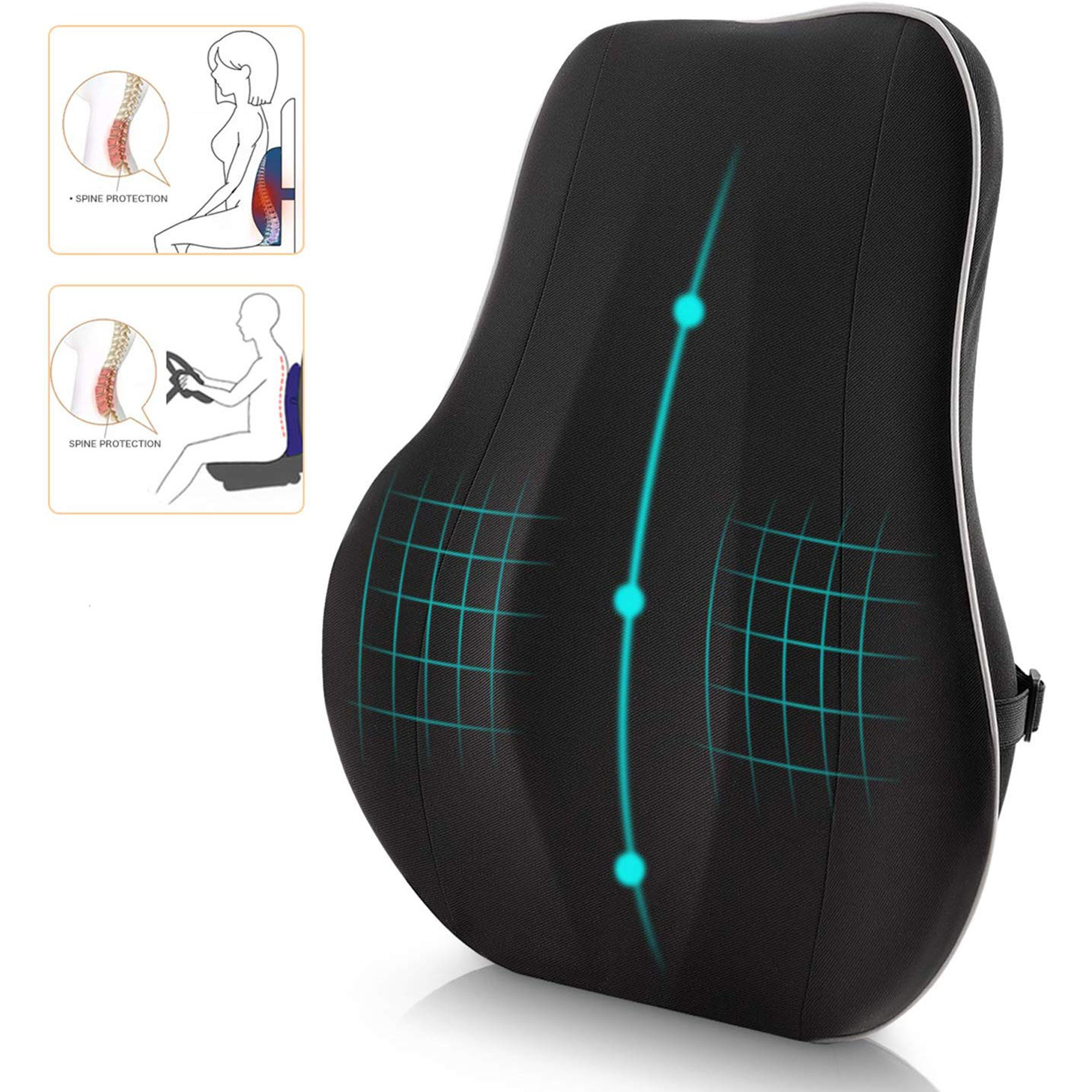 76 Off Memory Foam Lumbar Support Backrest Deal Hunting